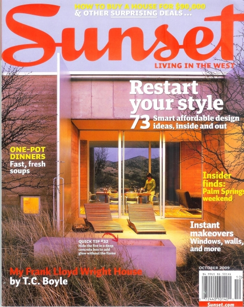 Stealing Beauty Sunset Magazine Oct 2009