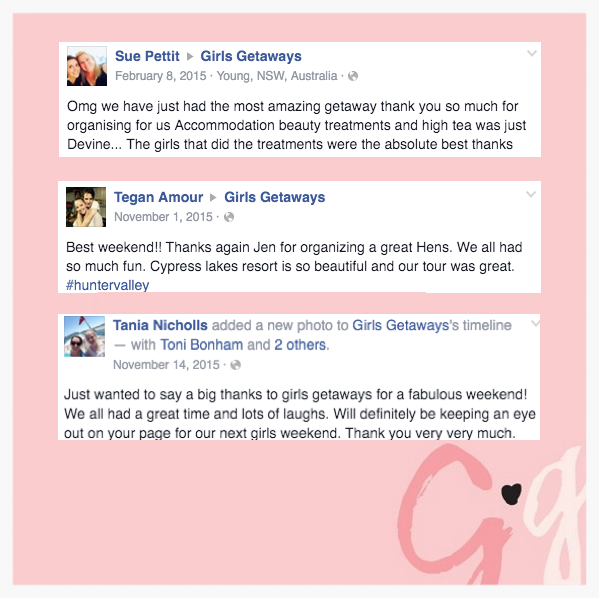 Sweet words from our lovely clients
