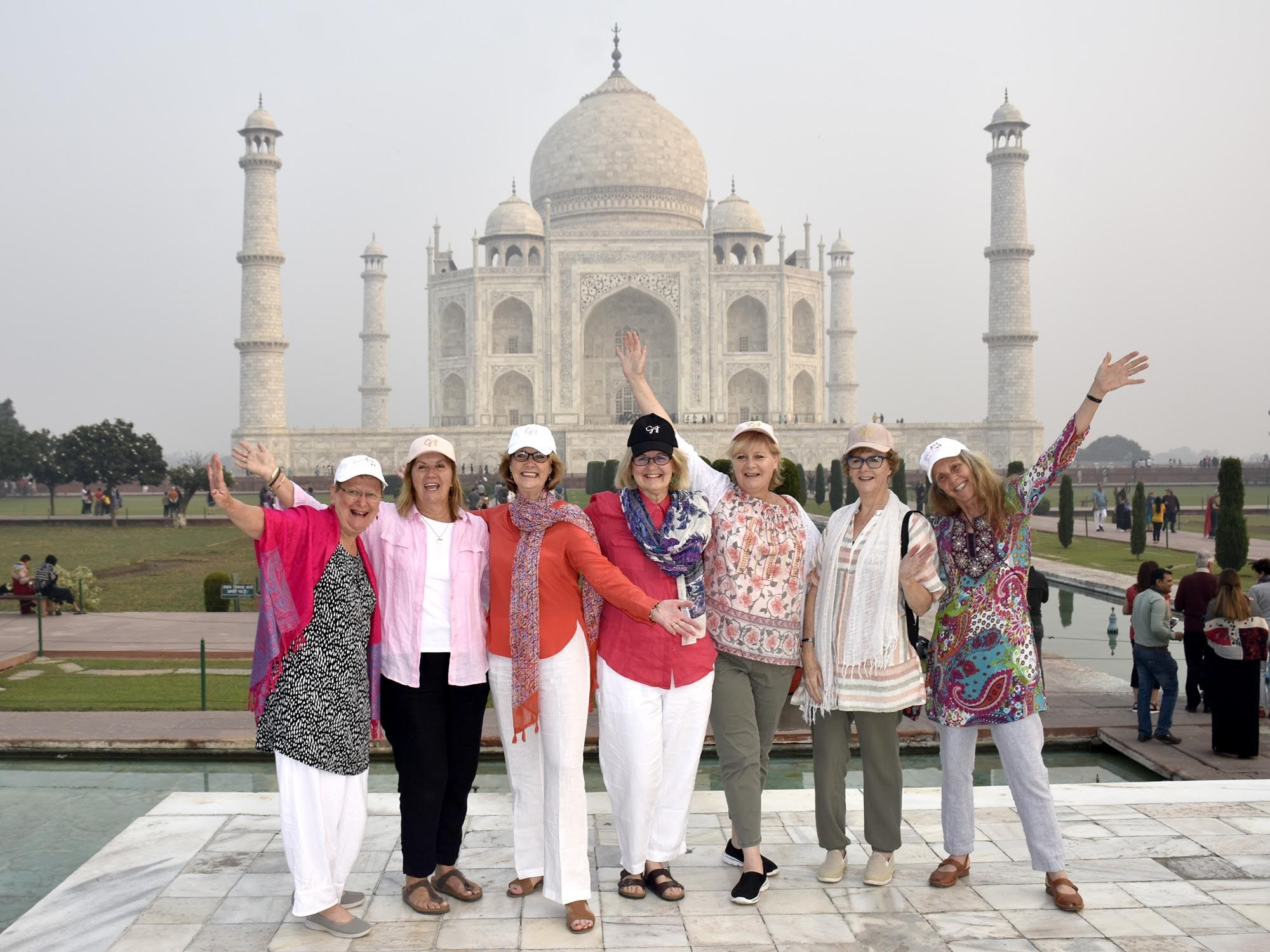 Day Four: Our 2018 group of women at the spectacular Taj Majal.