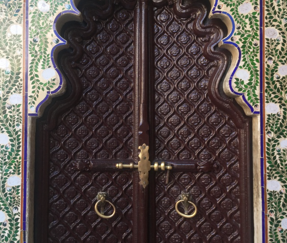 Day Seven: The intricate details of the doors to enter the City Palace of Udaipur.
