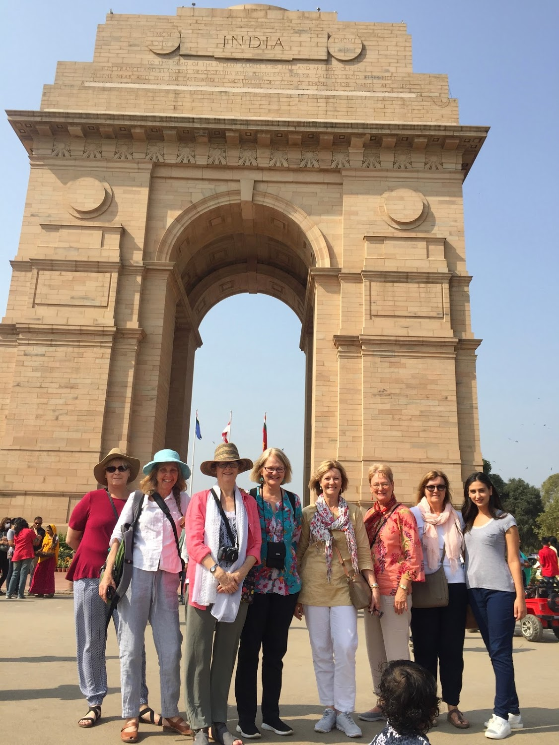 Day Ten: The women at India Gate.