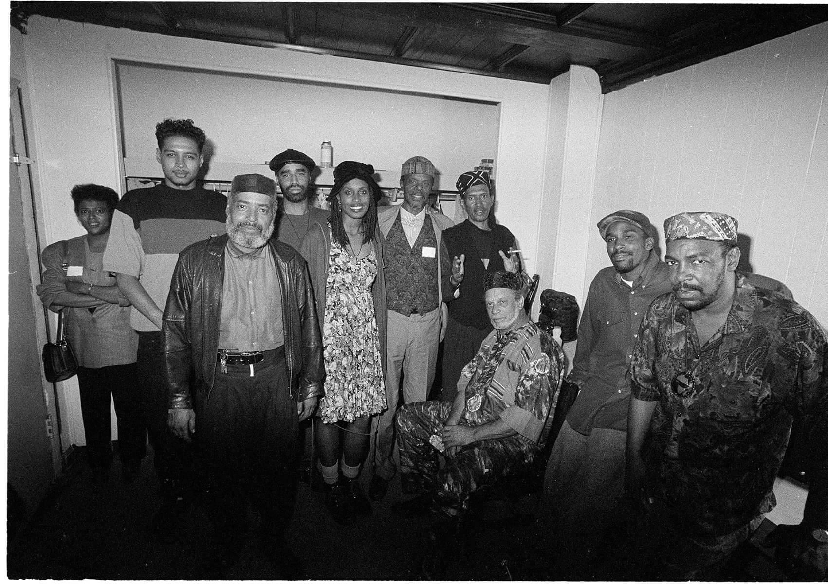 Mikah Nine, Father Amde, JMD, Horace Tapscott, Don Cherry, Richard Dedeaux, Aceyalone, and Otis O. Solomon. (photo: B+)