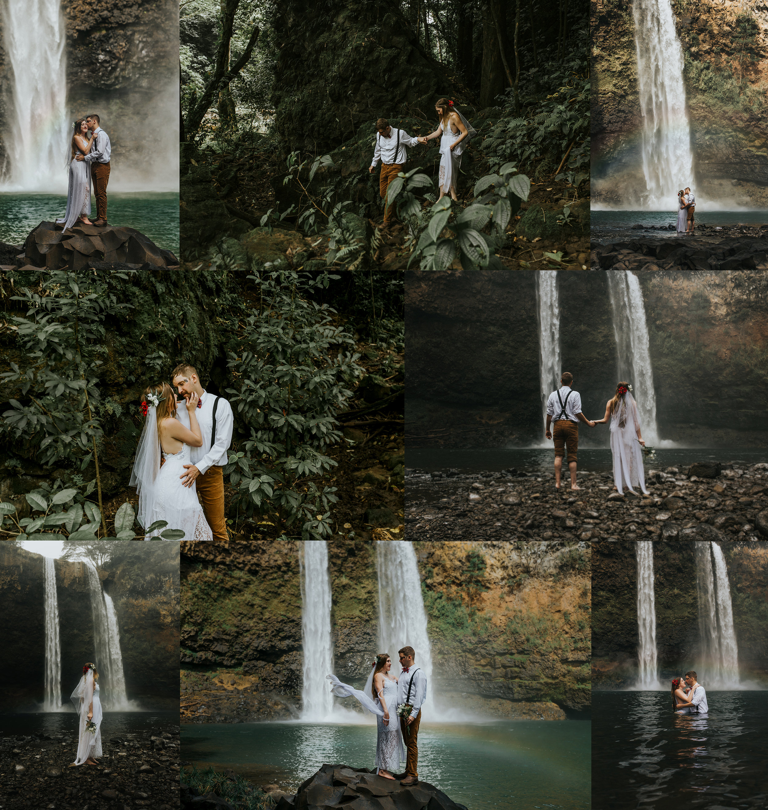 Oahu, Hawaii. New Wave Photography. Destination Wedding. Wailua Falls.jpg