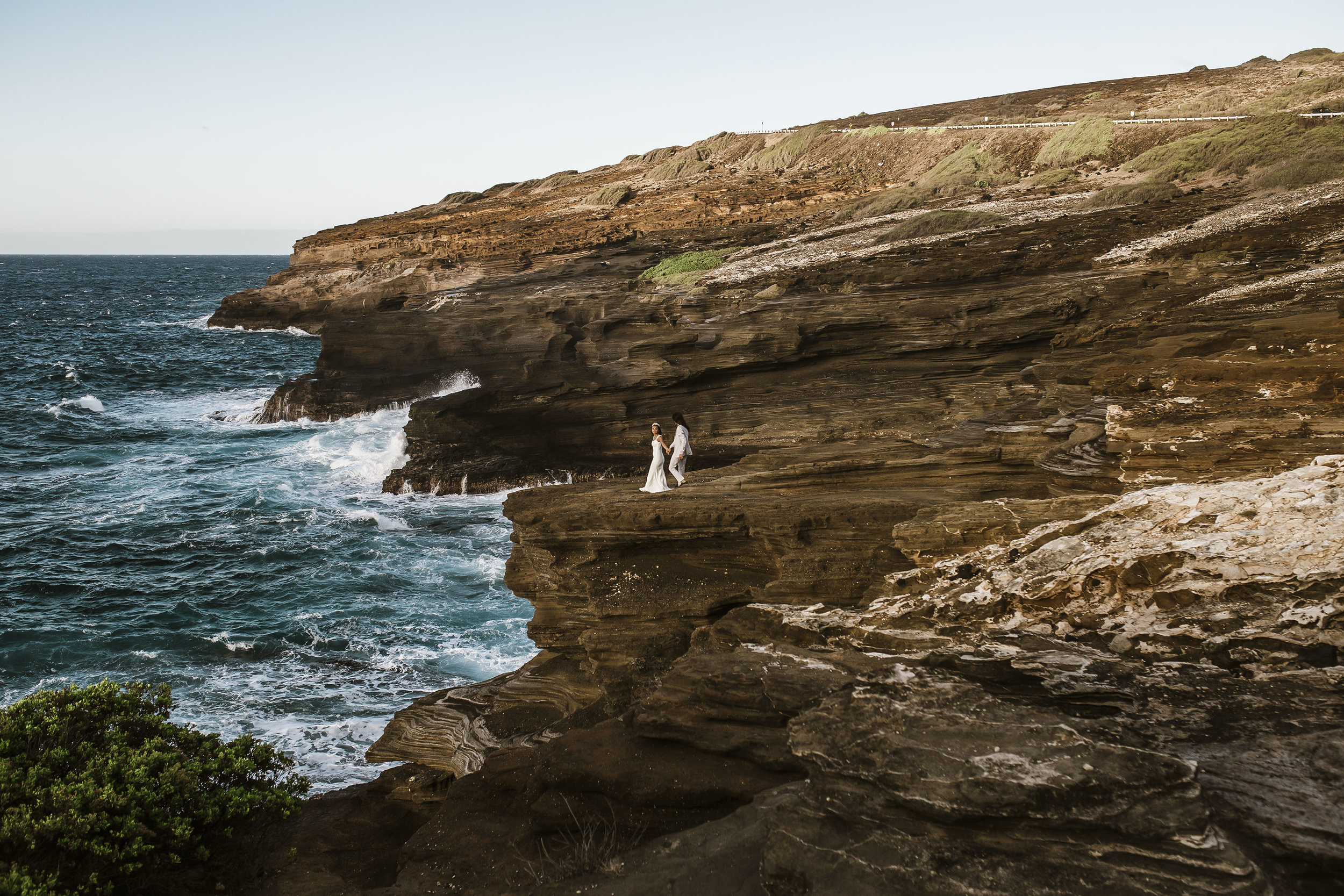 Mauricio + Monica mountain top and cliffside elopement -