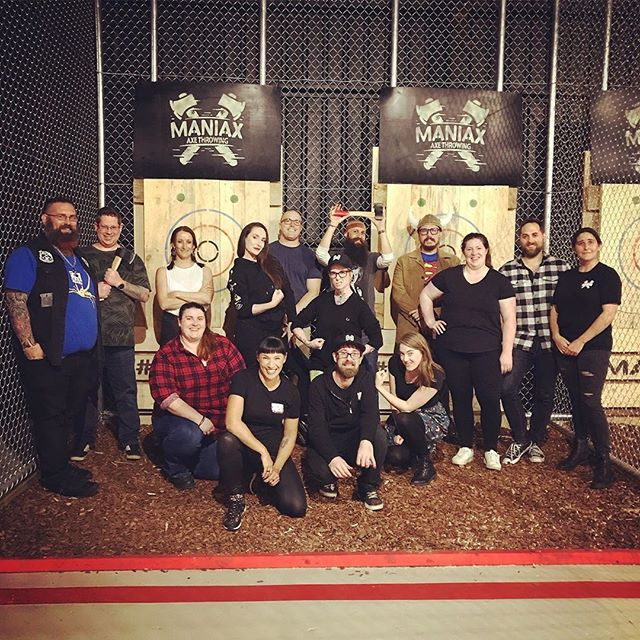 LEAGUE IS BACK! . . We're extra excited to show you the bright, shiny new members of #maniaxleague in our all new PERTH venue! Welcome to the league family, Perth crew! . . Worried you've missed out? NEVER FEAR! You can still register for Wednesday League starting TONIGHT! Email us now info@maniax.com.au to register! ⛏⛏⛏⛏⛏⛏⛏⛏ . . 📸 @feisty_s | League Manager axe-traordinaire @baybijojo 😎