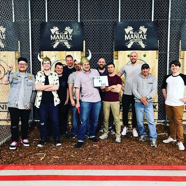 MANIAX Perth had its first Bucks group last night 🥳⛏🤘🏻These guys sure know how to partaaaay! We hear there may have been a conga line involved?! 🤣⛏👌🏻🥳 All the best for the upcoming nuptials!! #wedding #bucksparty #boysnight #axethrowingperth #maniax #burythehatchet #northbridge #perth #perthisok #urbanlistedperth #axethrowing #axe #perthisokay #soperth #discoverwa #perth #northbridge #boysnightout #iloveperth #thingstodoinperth 📸@feisty_s