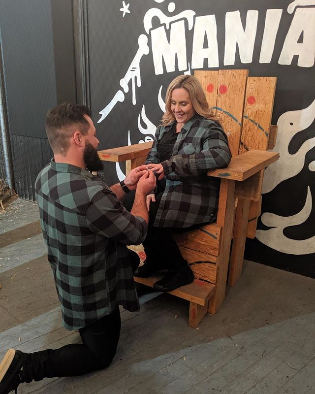And just like that, love was in the air at MANIAX Sydney. 🥰🥰 . . An axesolutely HUGE congratulations to Gabby and David from the MANIAX family. ❤️⛏🙌🏻