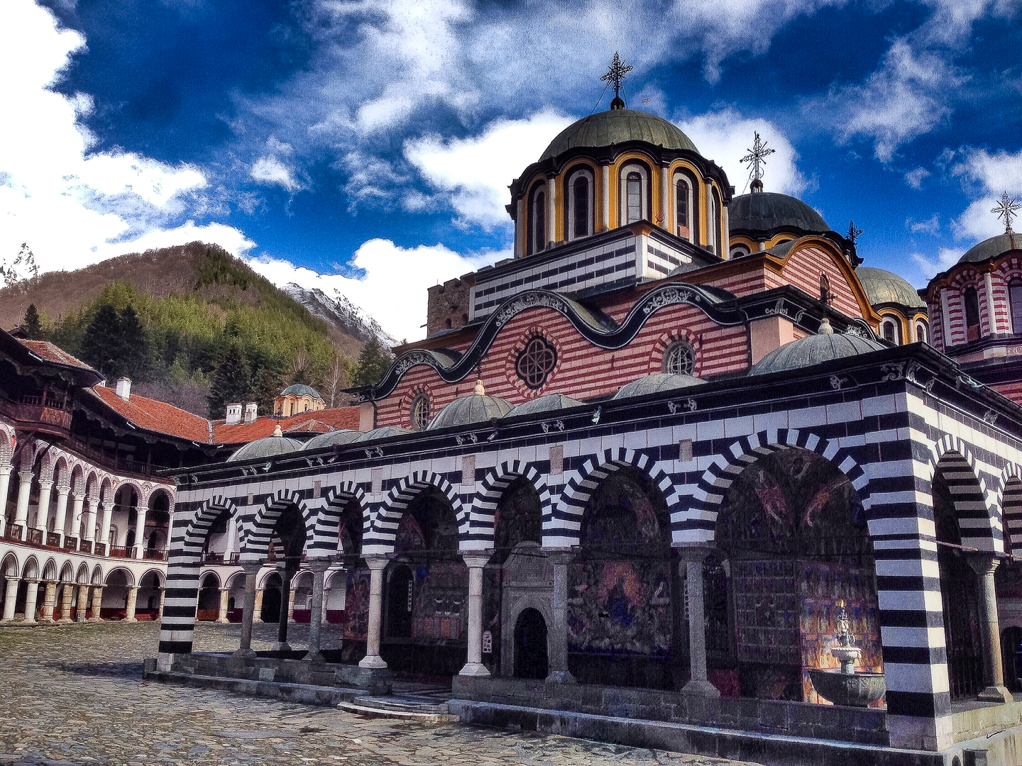Rila Monastery, a UNESCO World Heritage site, is home to some of the most psychedelic murals in the Orthodox world.