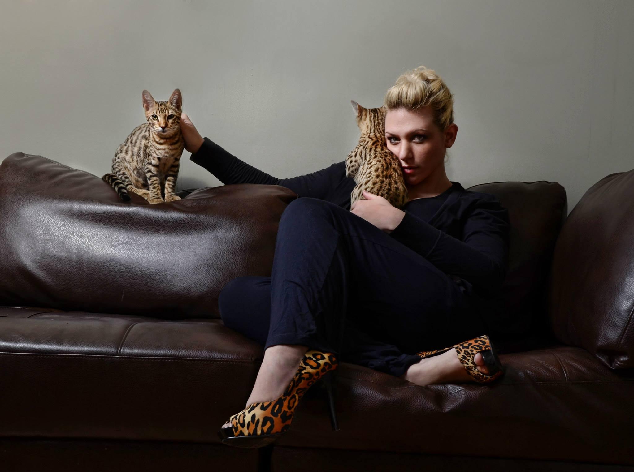 Lora Michael and Kitties.