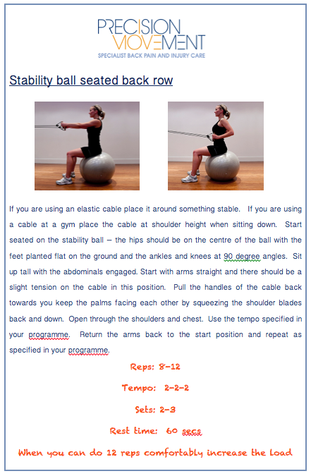 Precision Movement exercise for cyclists with back pain