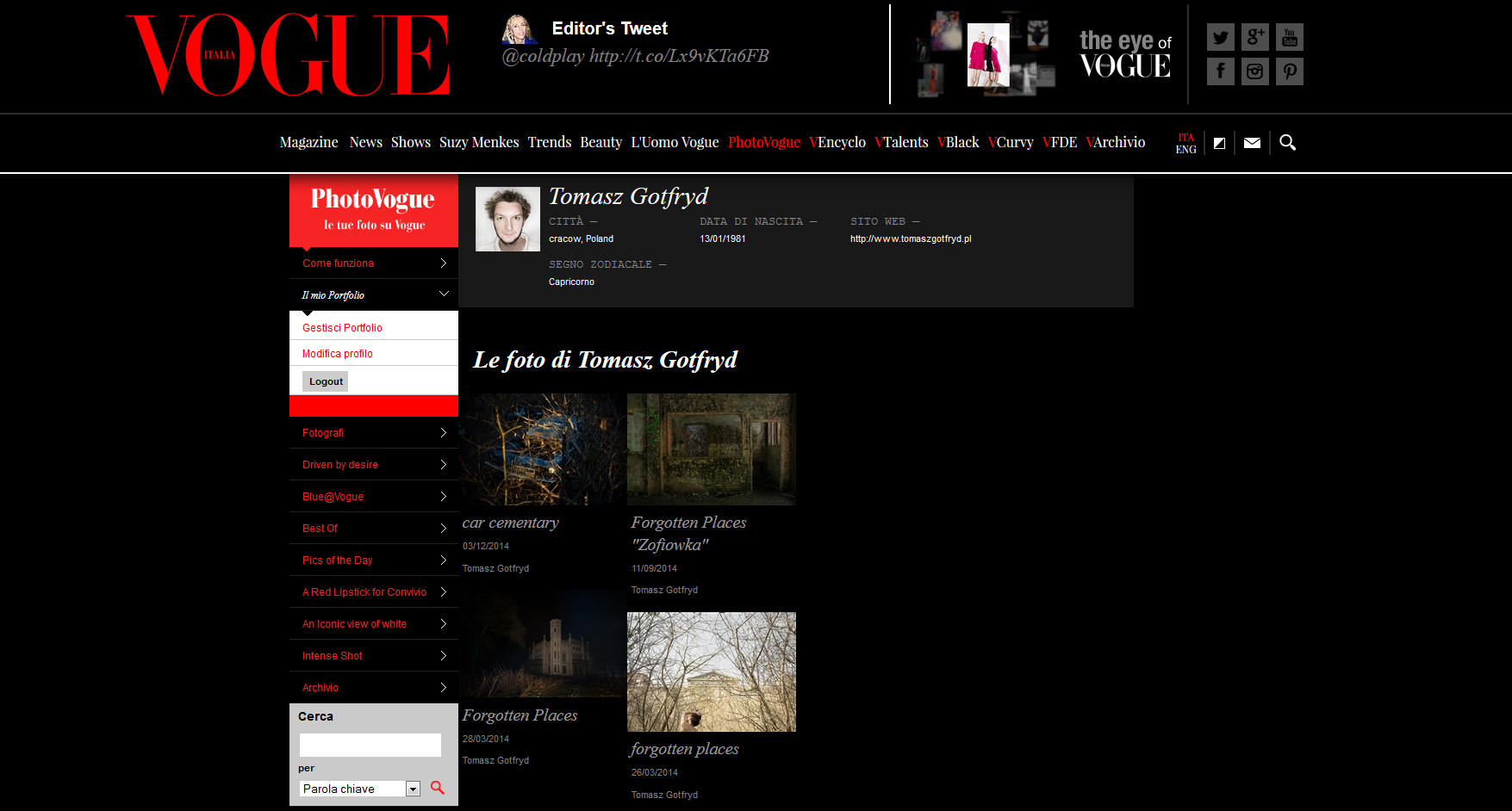 My portfolio in Vogue