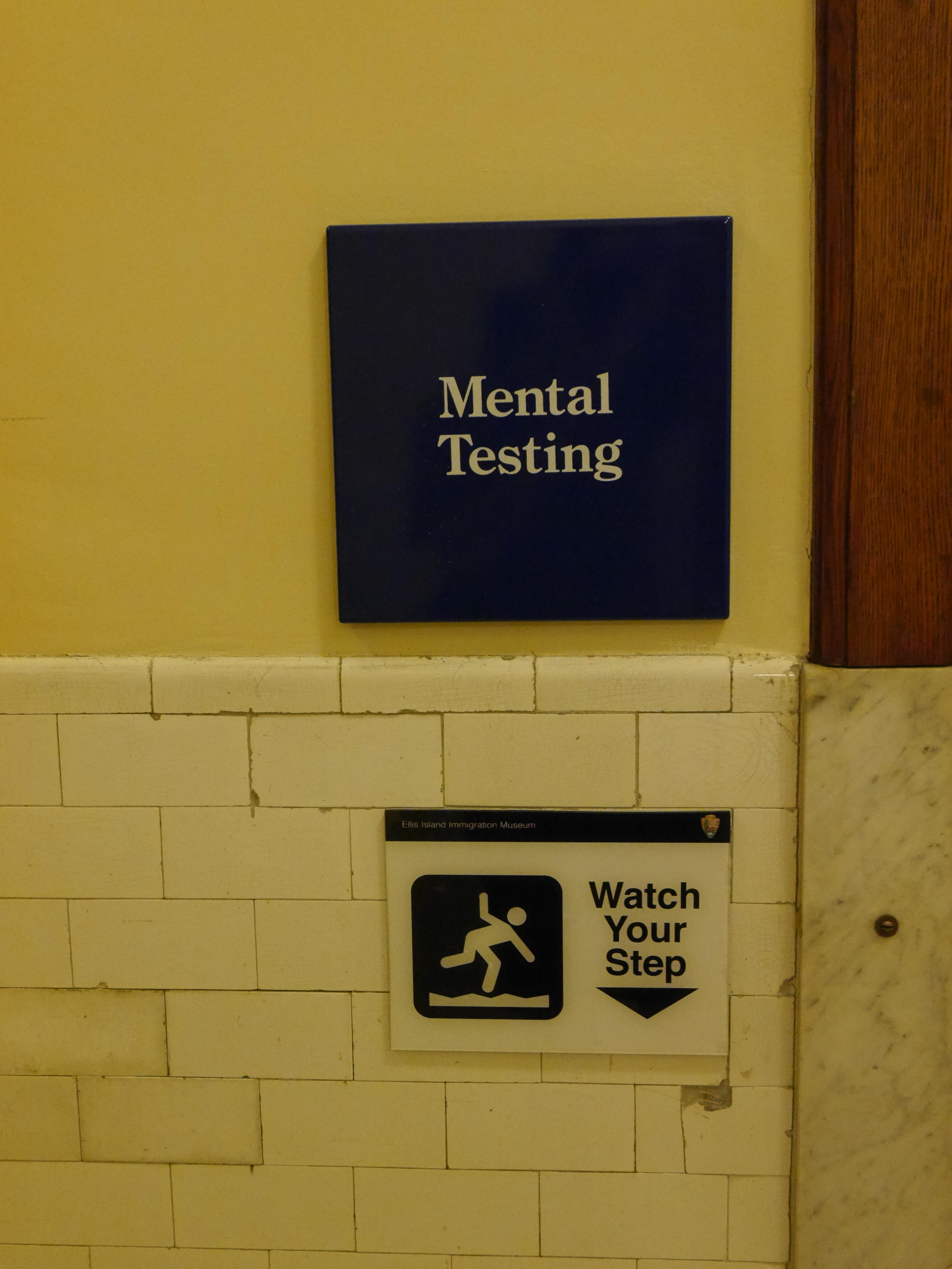 I'm not sure the testing is entirely comprised of being able to watch your step, but I imagine that's at least one component.