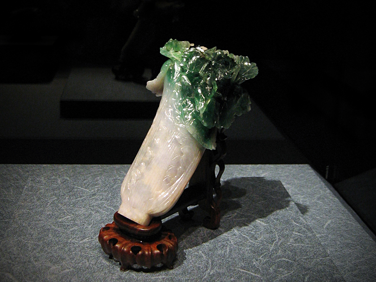 The jade cabbage. Apparently famous for how well the sculptor used the flaws and natural variations in the jade as assets to make the piece more lifelike.
