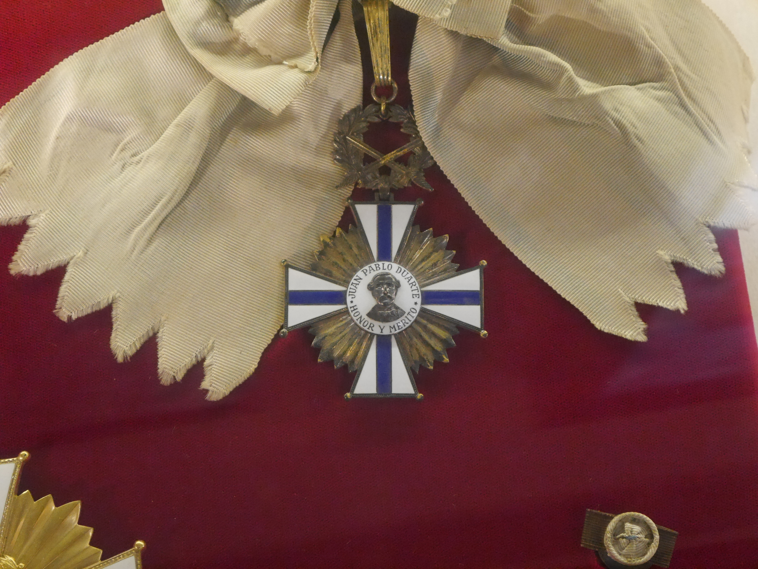 The medal up close.