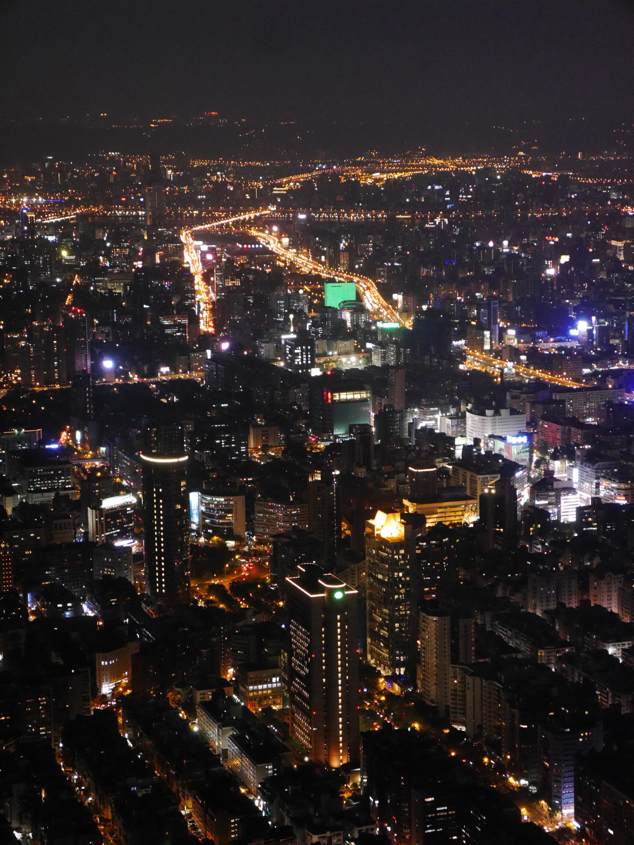 Another view of Taipei at night.