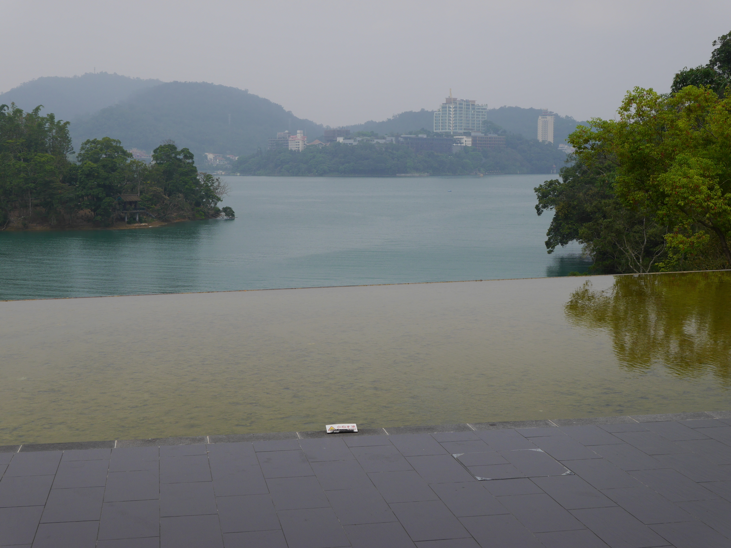 The view of Sun Moon Lake.