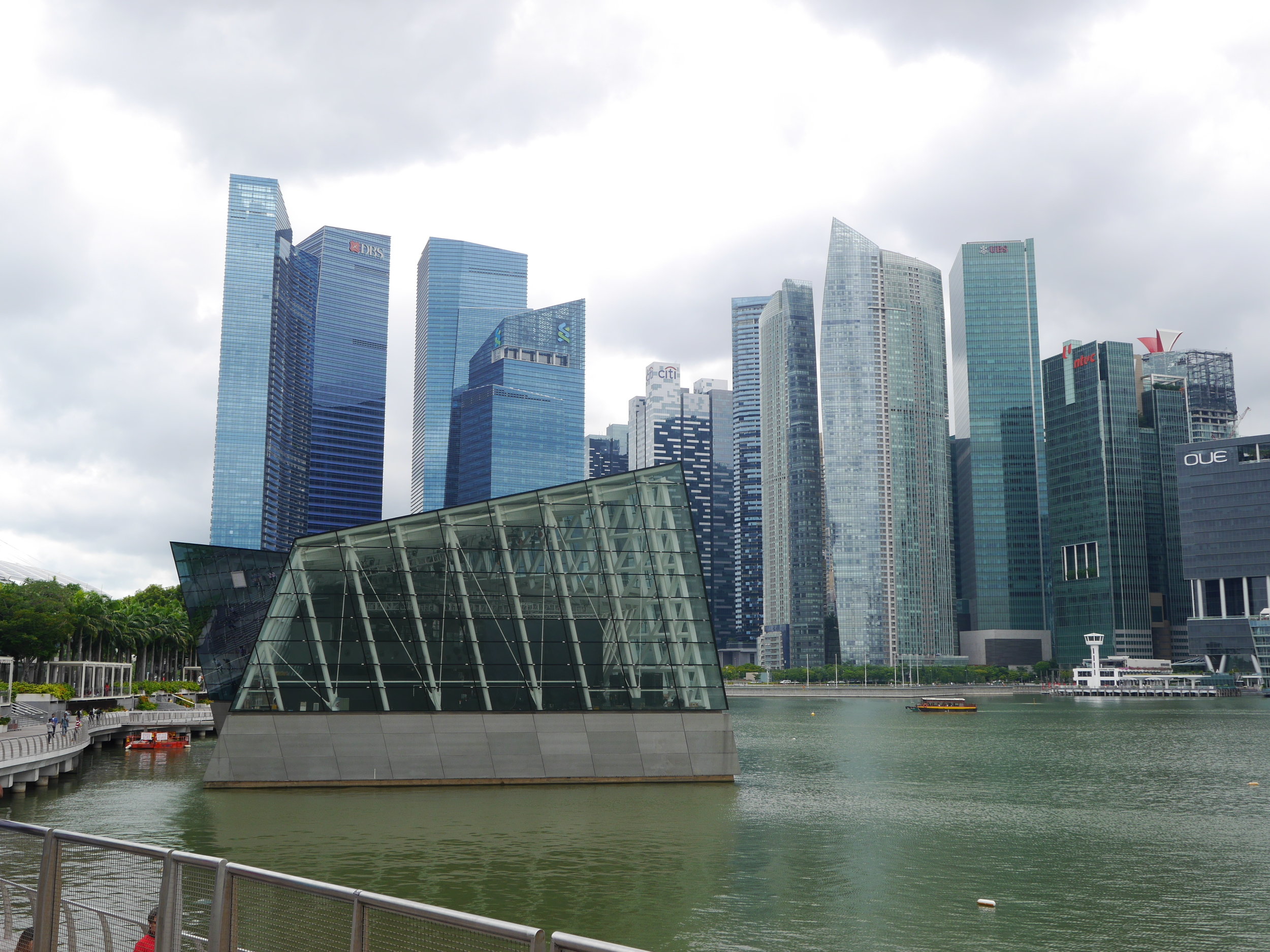 The Louis Vuitton building from another angle, and a portion of the Singapore skyline. I really love the blue color on the cluster of leftmost towers.