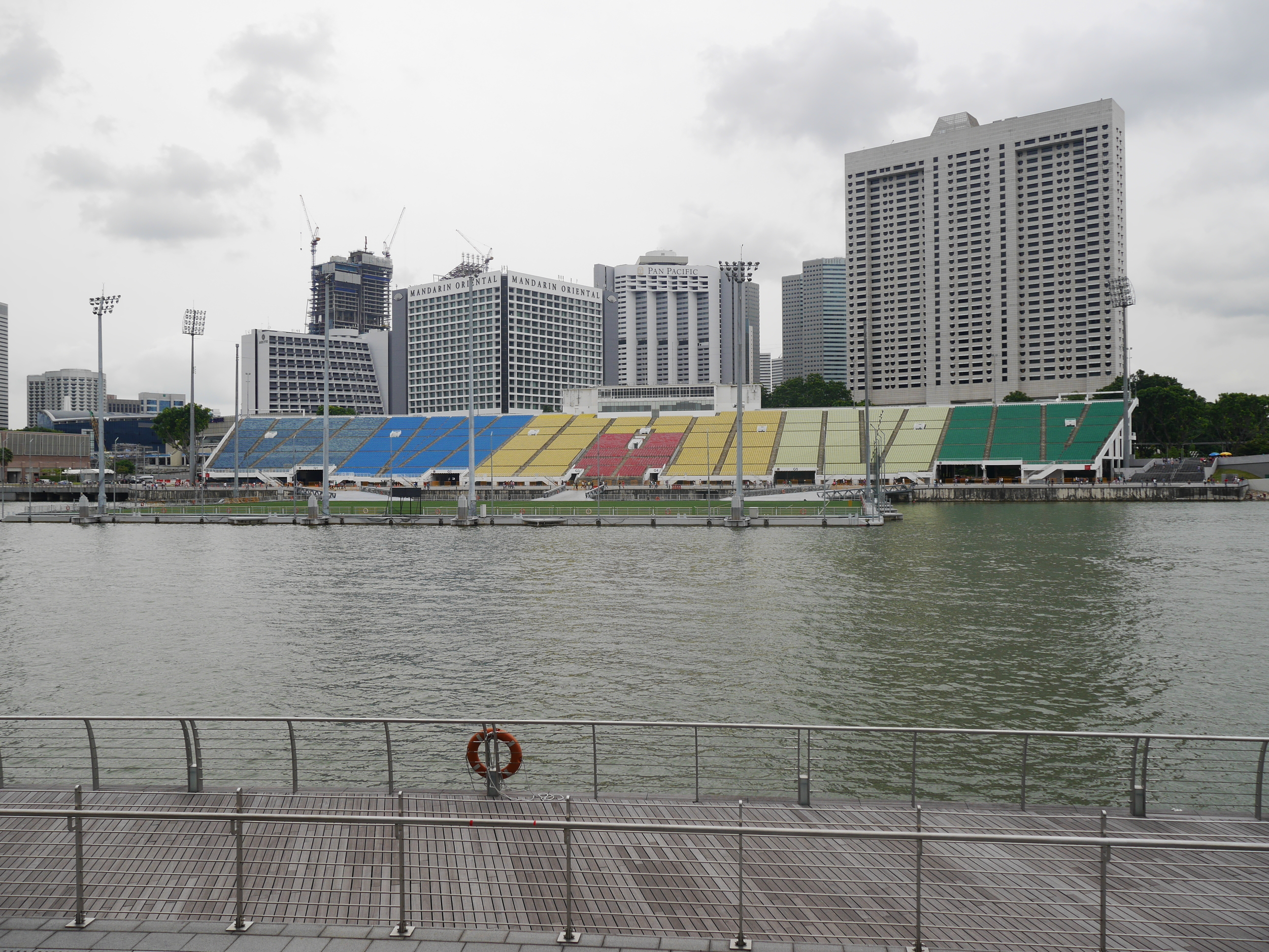 The (maybe just a) Singapore Junior Olympics field. More or less floating on the bay. Really neat.