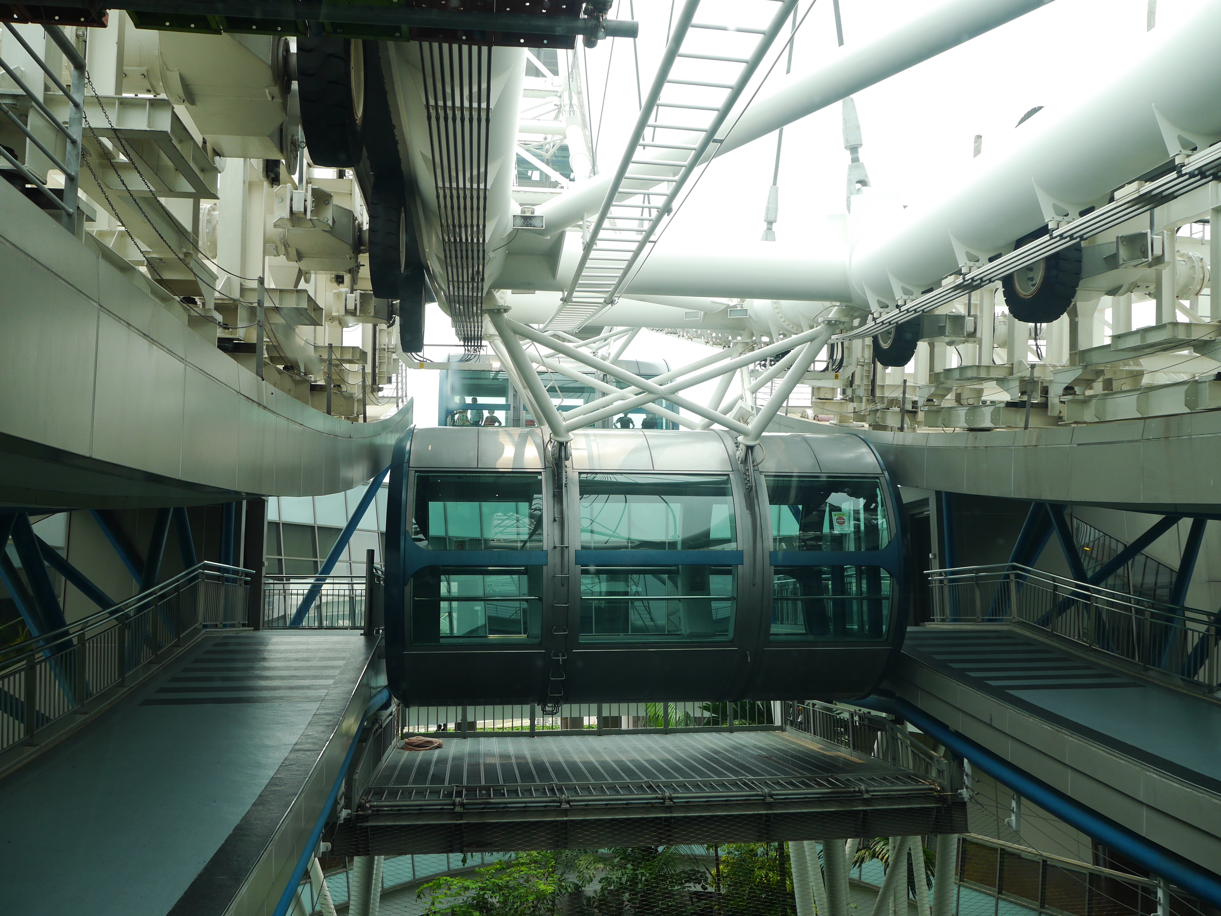 The capsules you ride in. Thankfully not very crowded.