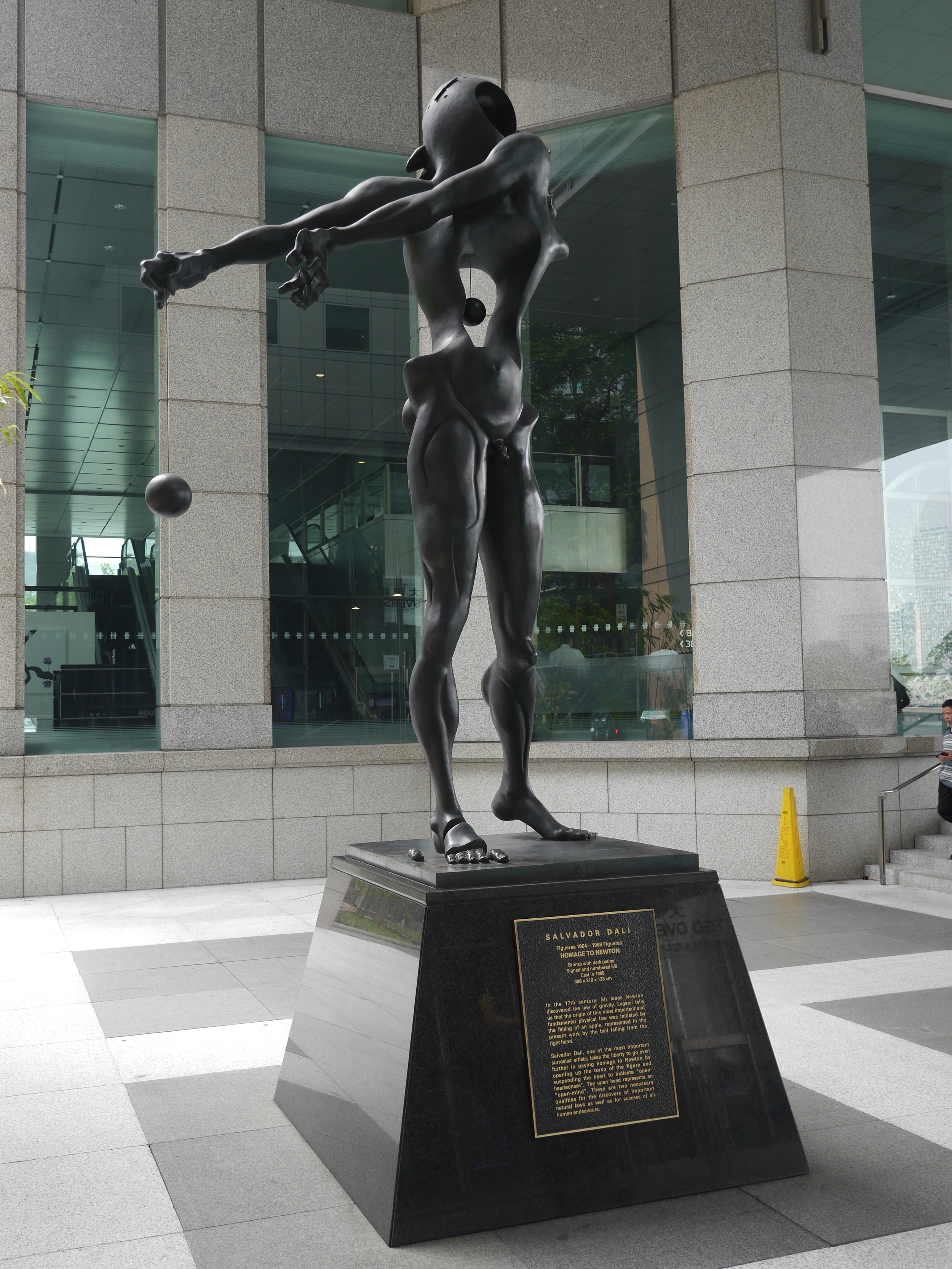 Dali's  Homage to Newton . Didn't even realize he did sculpture. Reminds me a bit of  Gargallo .