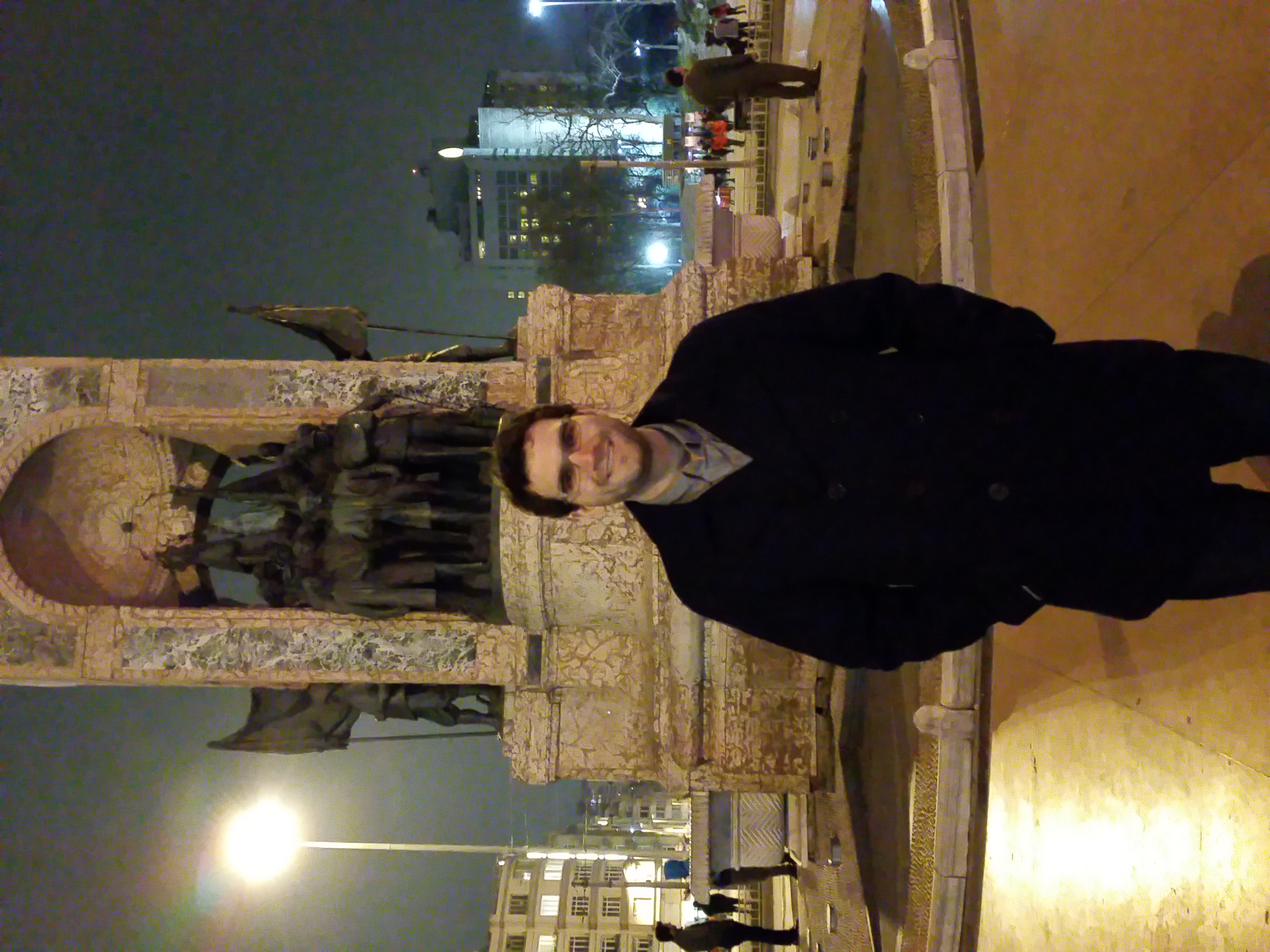 Me posing at Taksim Square.