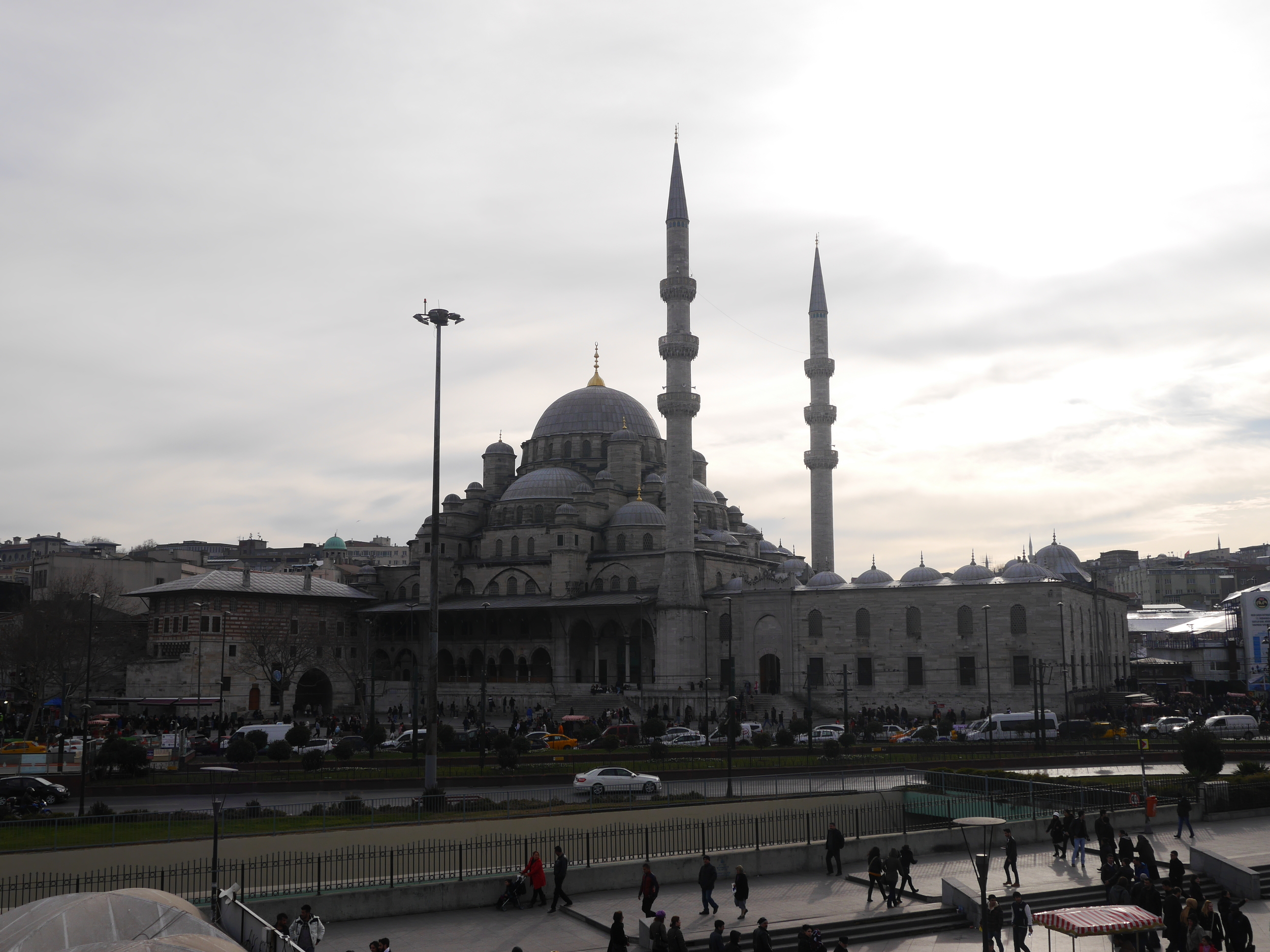 The  Yeni Cami (New Mosque) , as seen from aboard the ferry.