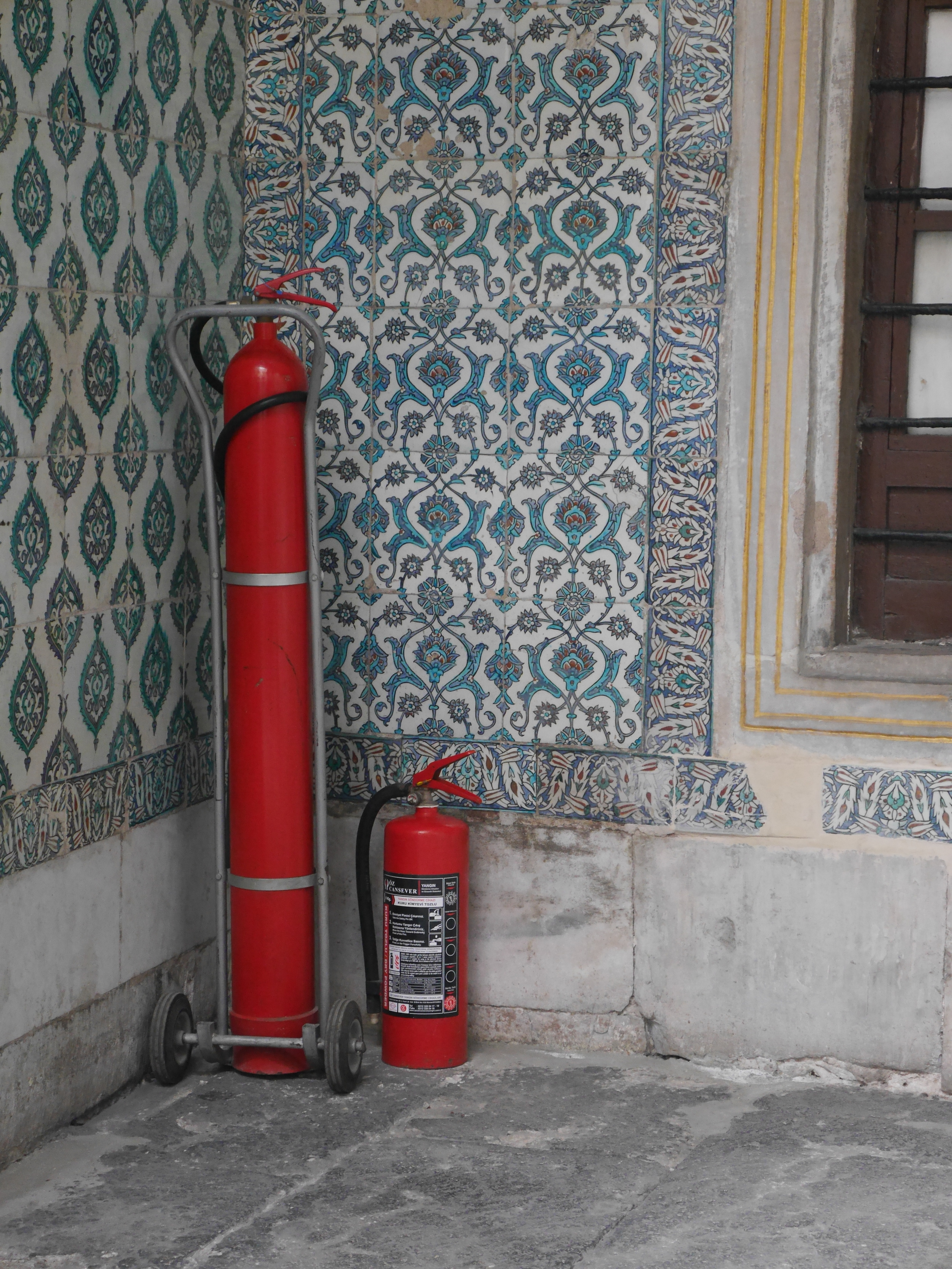 The tallest fire extinguisher I've ever seen.