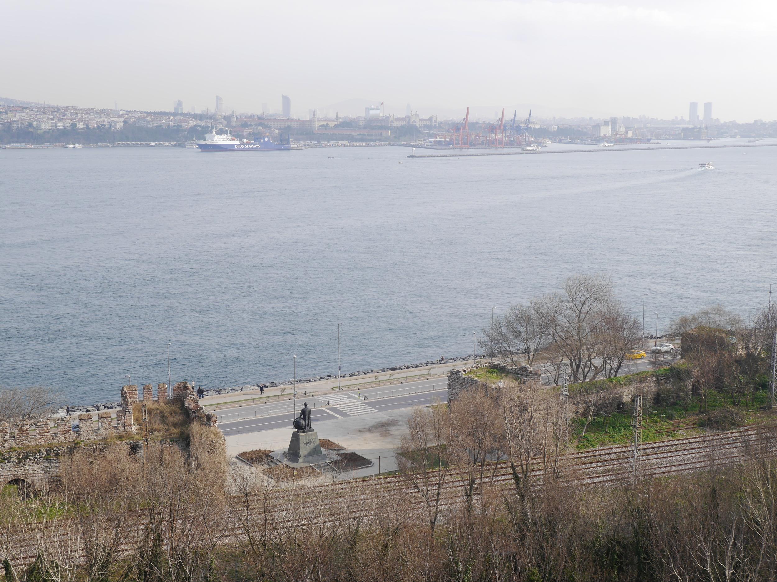 Looking across the Bosphorus.