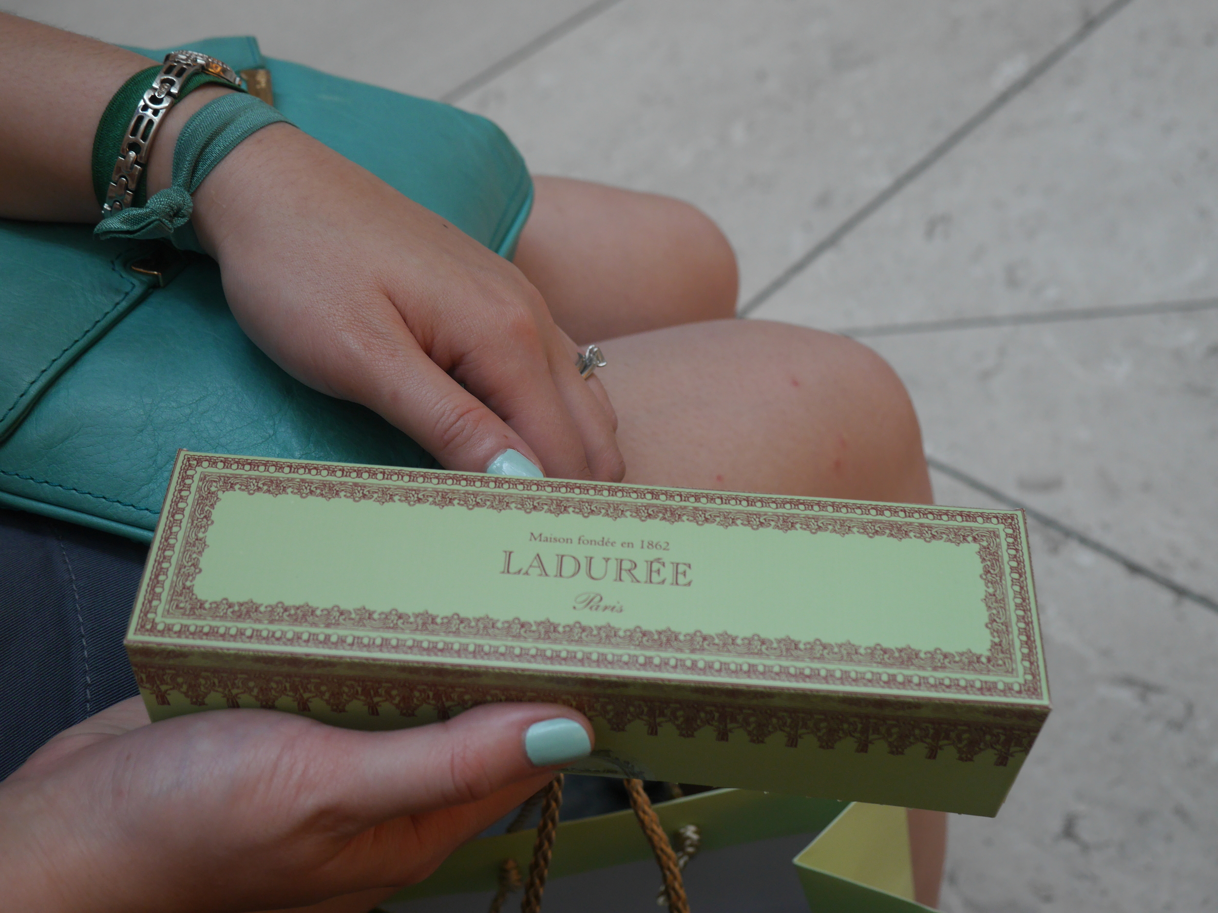 Still, the box was pretty. And Grace had this whole teal/green thing going on, so it was pretty much destined to be.