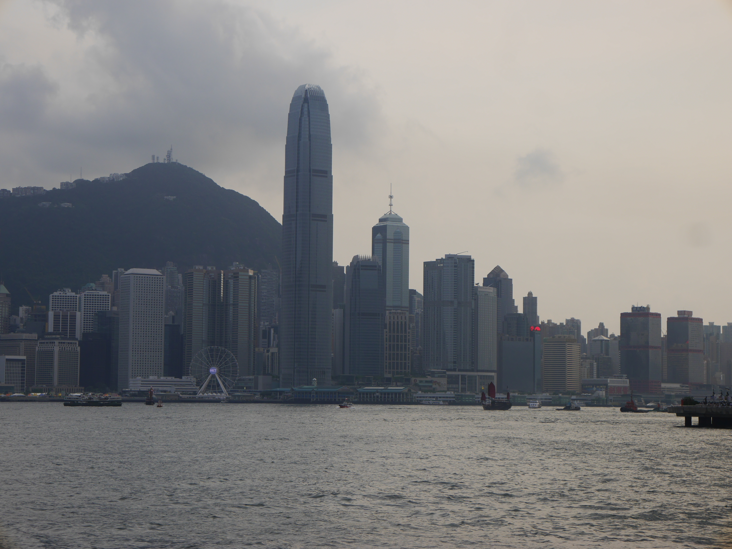 Another shot of the waterfront, featuring the second tallest building in Hong Kong,  Two International Finance Centre .