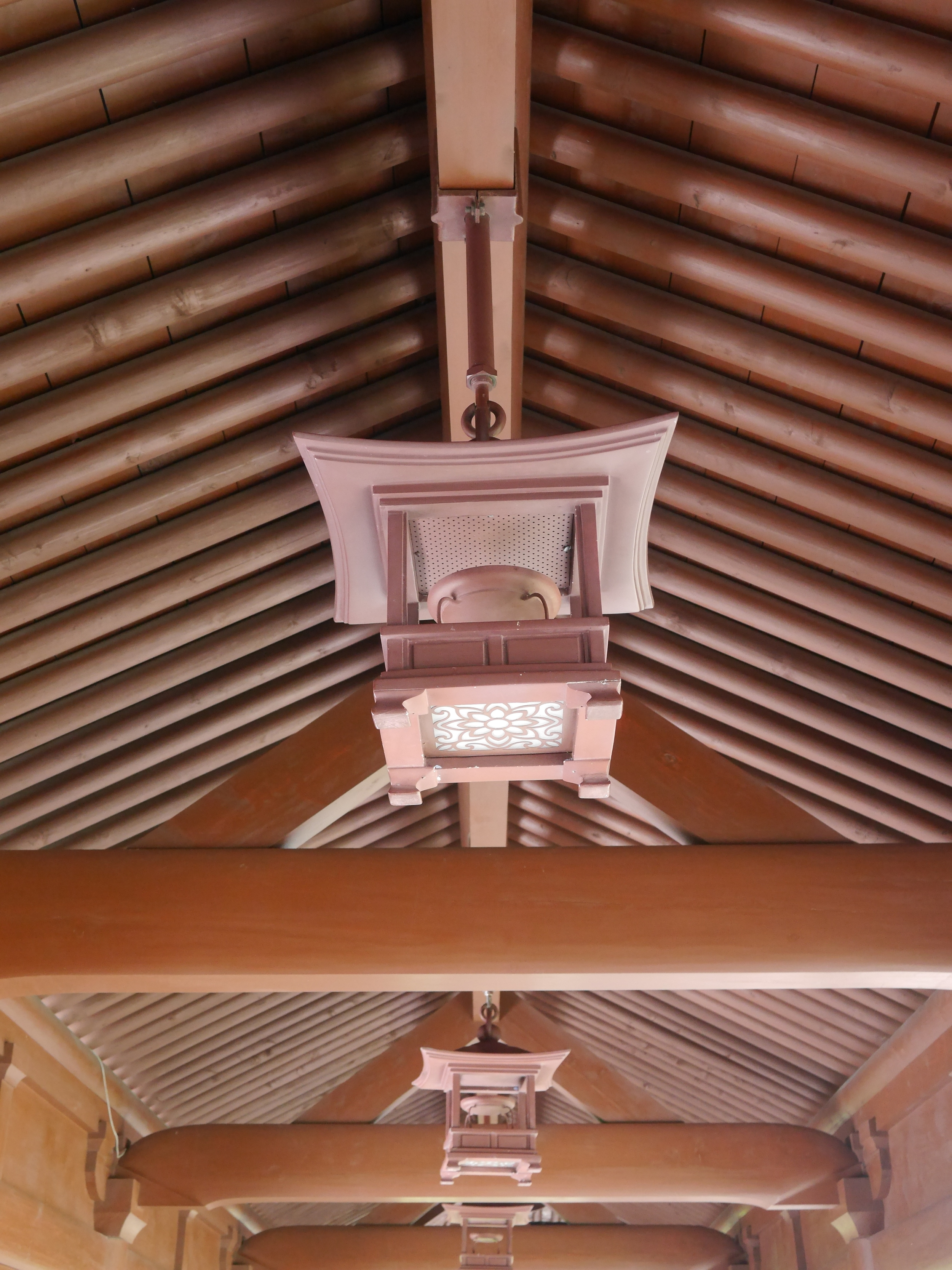 One of the ceilings. I guess the lamps are not made of wood.