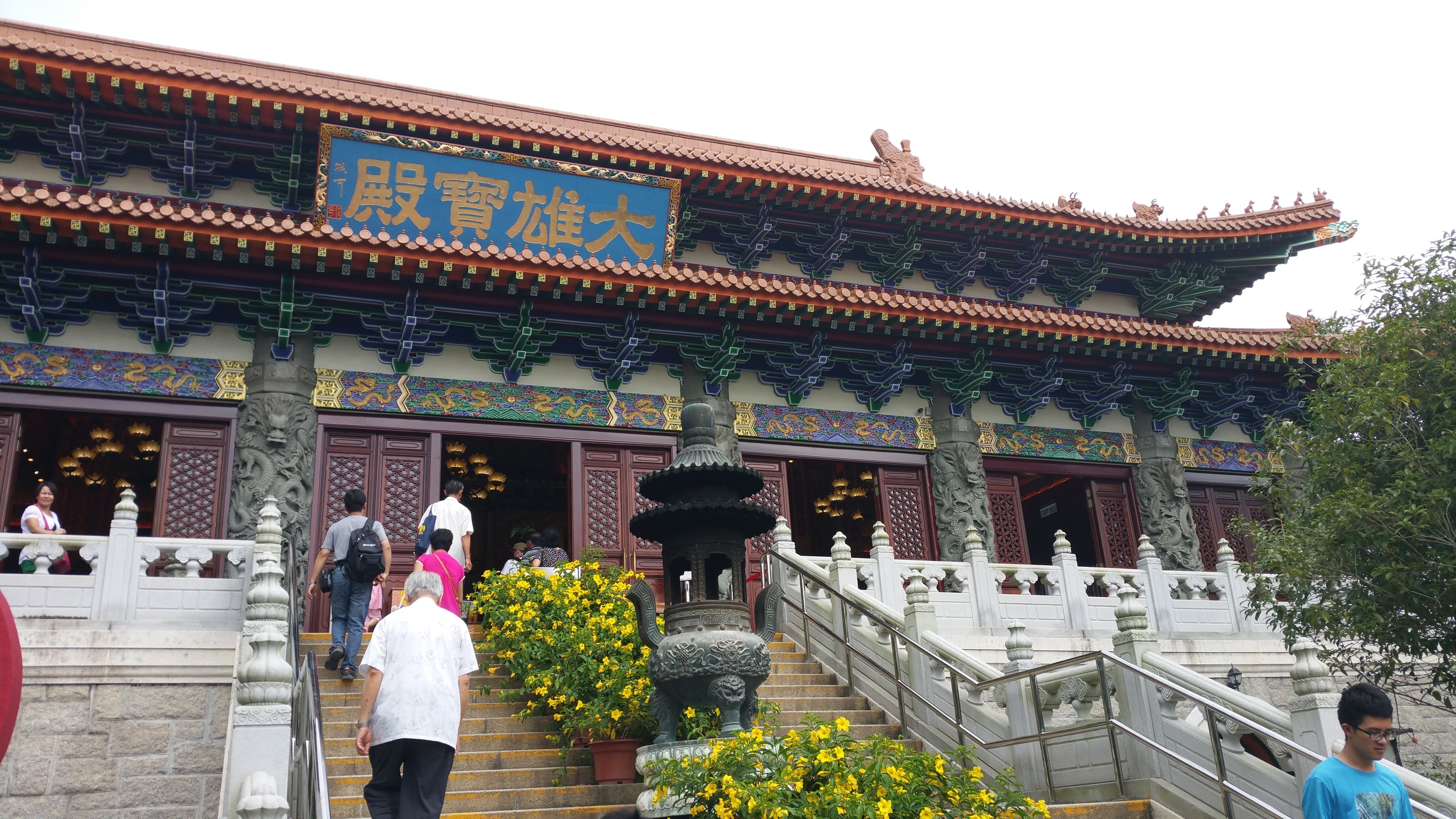 The monastery up close. A lot more colorful than the Chi Lin Nunnery!
