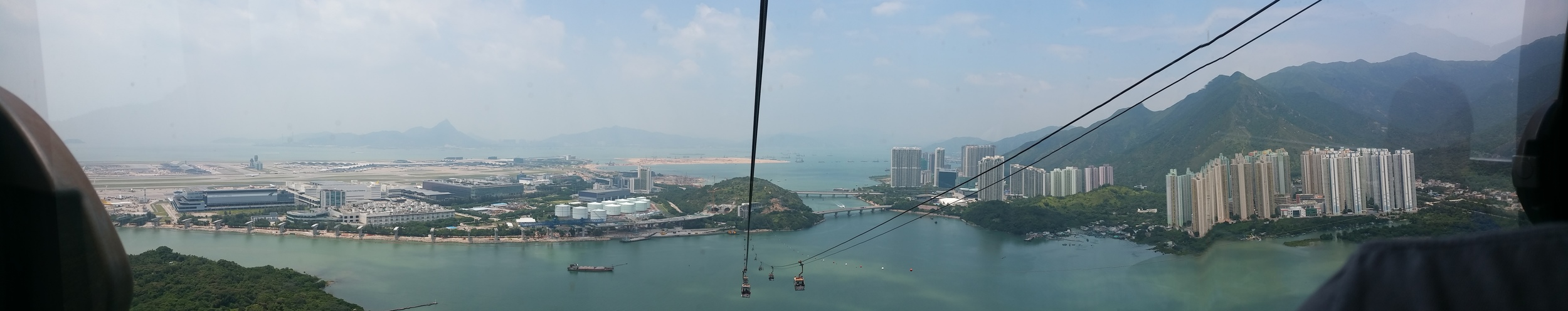 Panoramic view from the cable car.