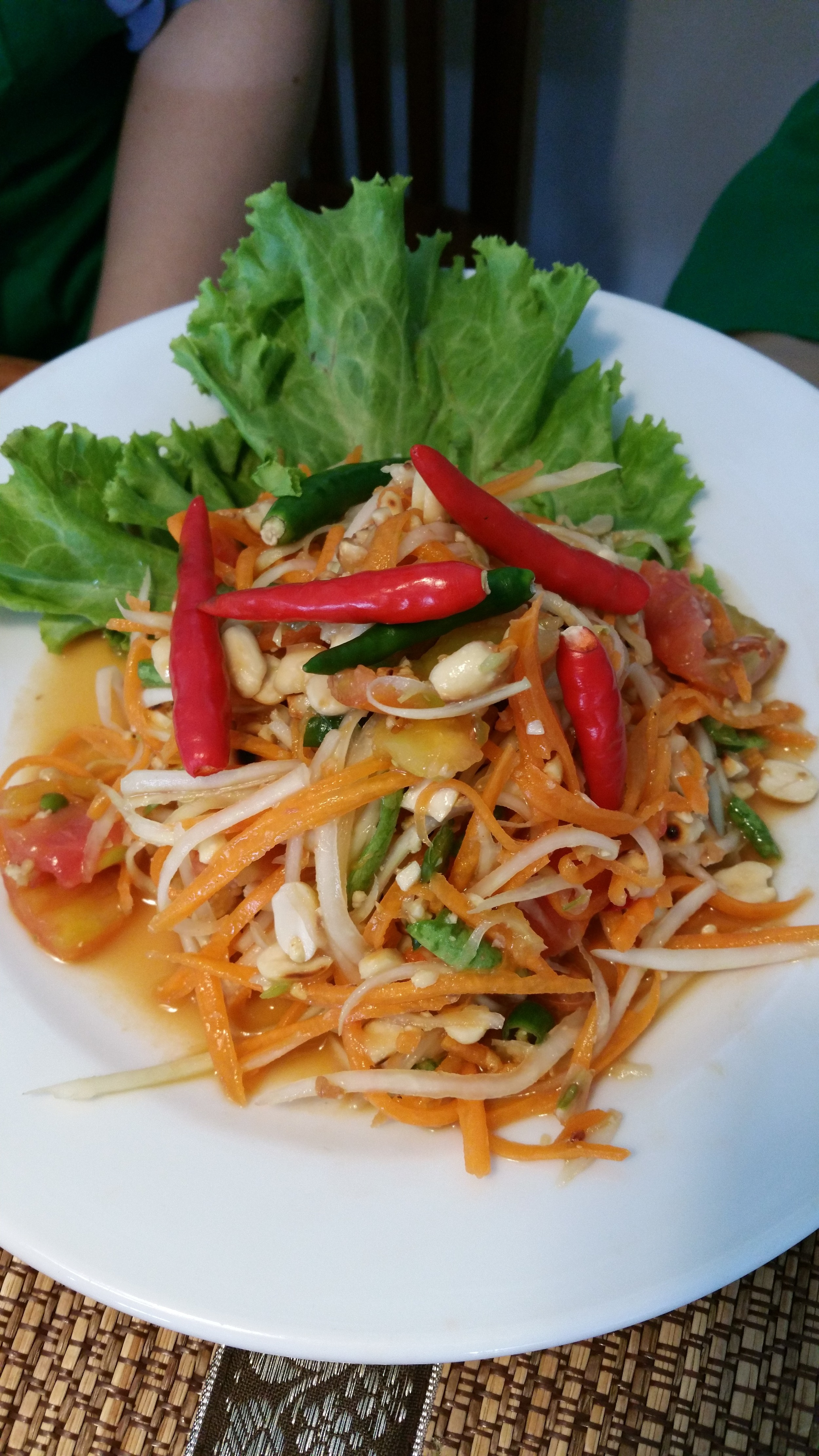 Papaya salad up close!