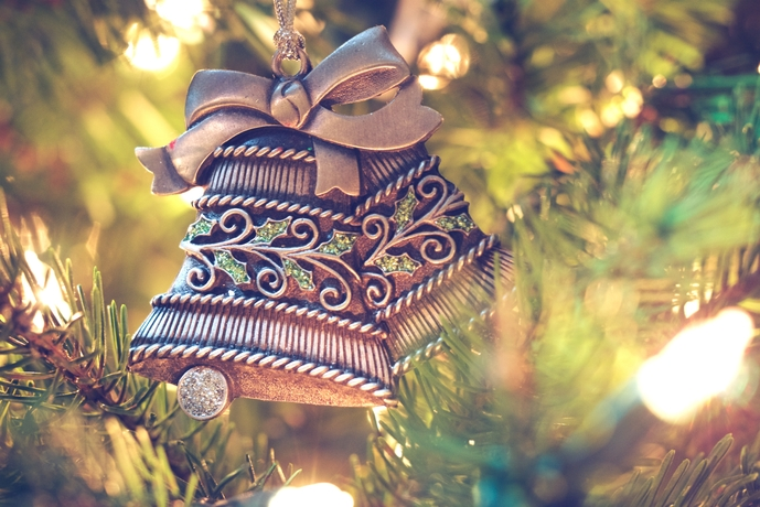 Christmas bells on a Christmas tree