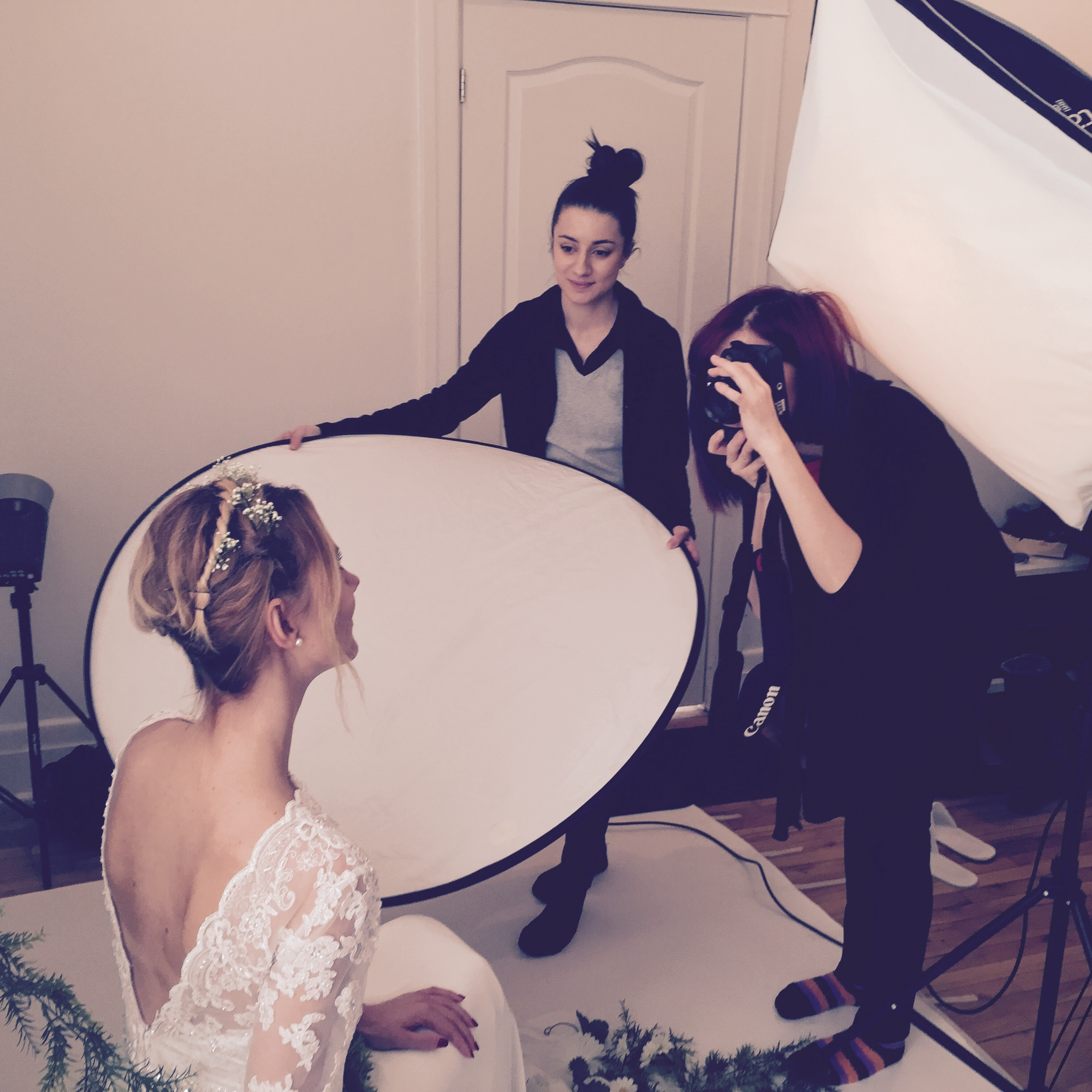 Tora the Photographer in action.  Assistant: Teodora Stefan