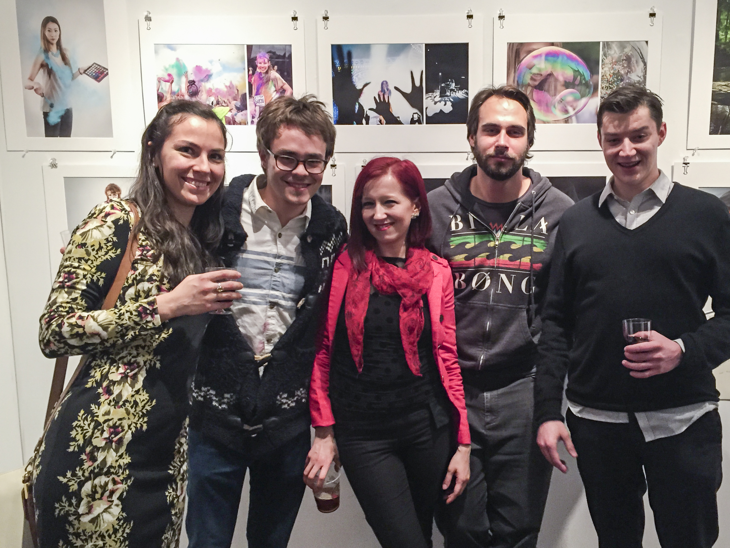 Me & my chosen family at my vernissage