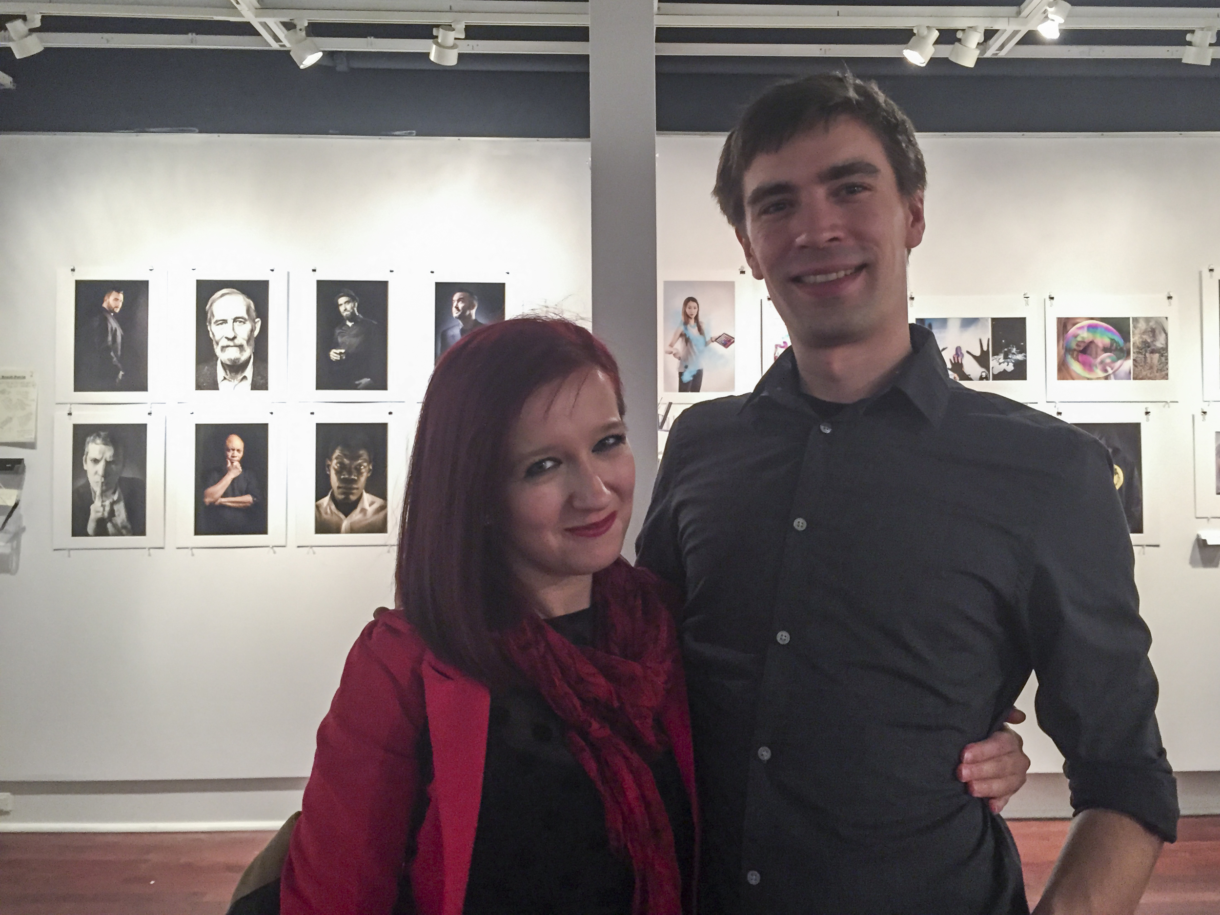 Me & Olivier at our graduation vernissage