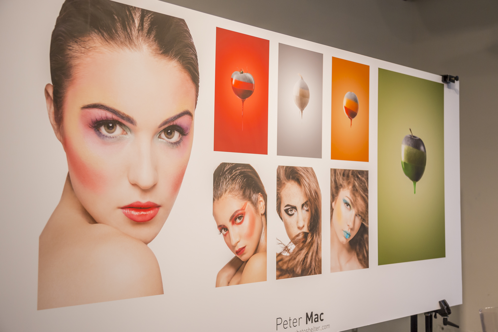 My rainbow makeup work in Peter Mac's portfolio