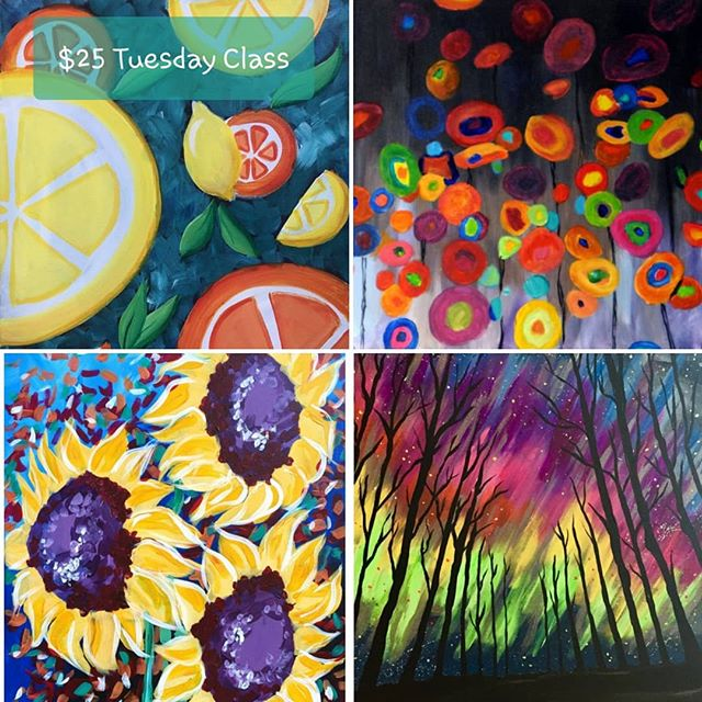 Come join us this week for some summer fun! Check out our classes available this week. 🖌Plus live music on Friday 8/9!! Make your reservation online today! 🍷🍹 #arte #art #paintbar #wineandpaint #wine #wauwatosa #girlsnight #familyfun #fun #datenight #tosa #paintclass #supportlocal #tosavillage #color #tuesday #livemusic #summer #summervibes