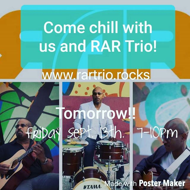 "Come enjoy tomorrow's lovely weather with three of the coolest guys we know! Their music is ""classic rock, r&b, jazz, blues, funk and folk all rolled into a rare mixture"". Don't believe us? Come check them out for yourselves! 🎶 #livemusic #music #jazz #r&b #supportlocal #localartist #local #wauwatosa #tosavillage #arte #art #paintbar #wineandpaint #wine #chill #funk #folk #classicrock #blues #cooldudes #fridayvibes #girlsnight #chillnight"