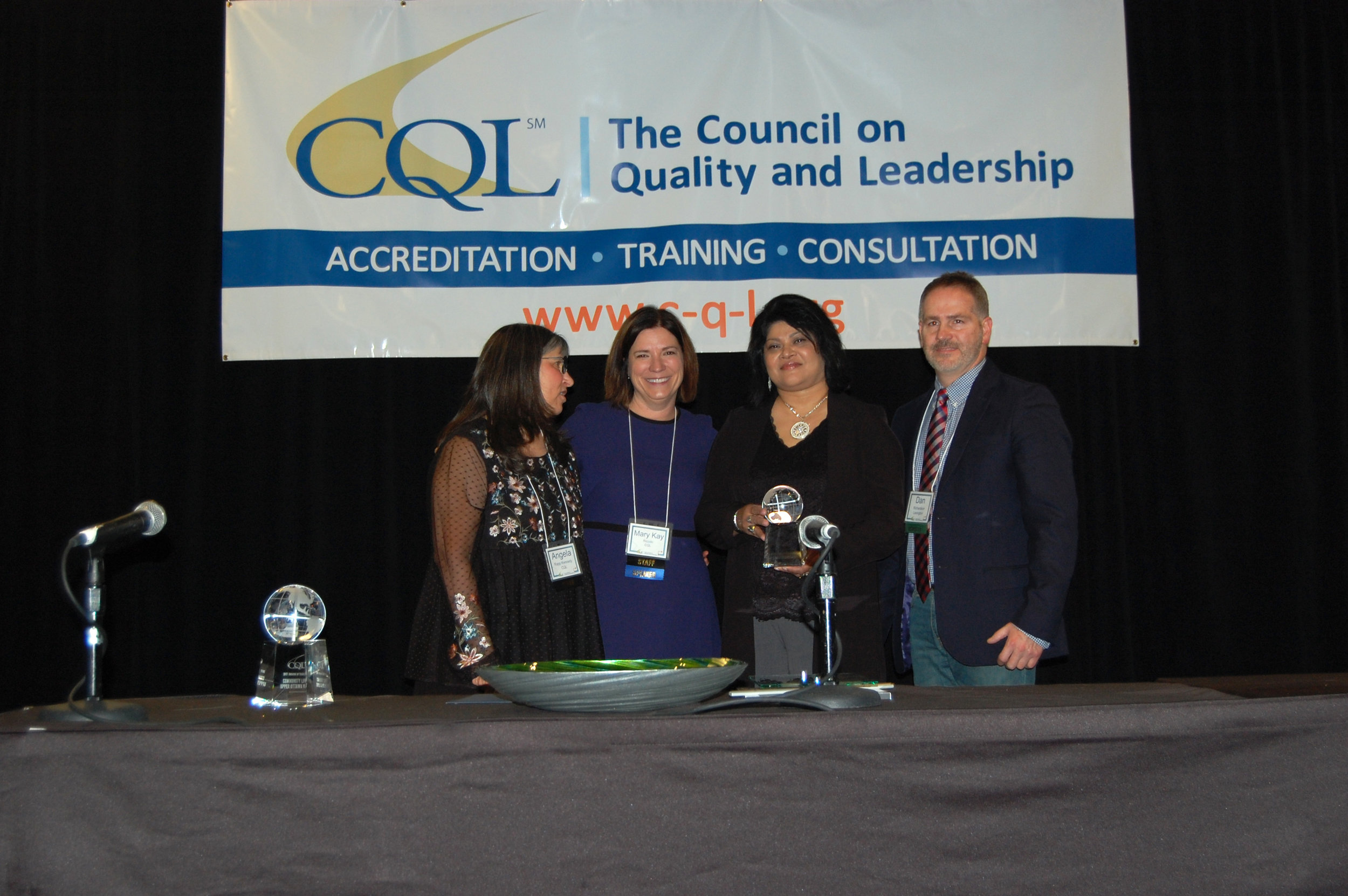 Angela Rapp Kennedy, Vice President, CQL; Mary Kay Rizzolo, CEO, CQL; Shaloni Winston, Executive Director, Lexington; and Daniel Richardson, Deputy Executive Director, Lexington.