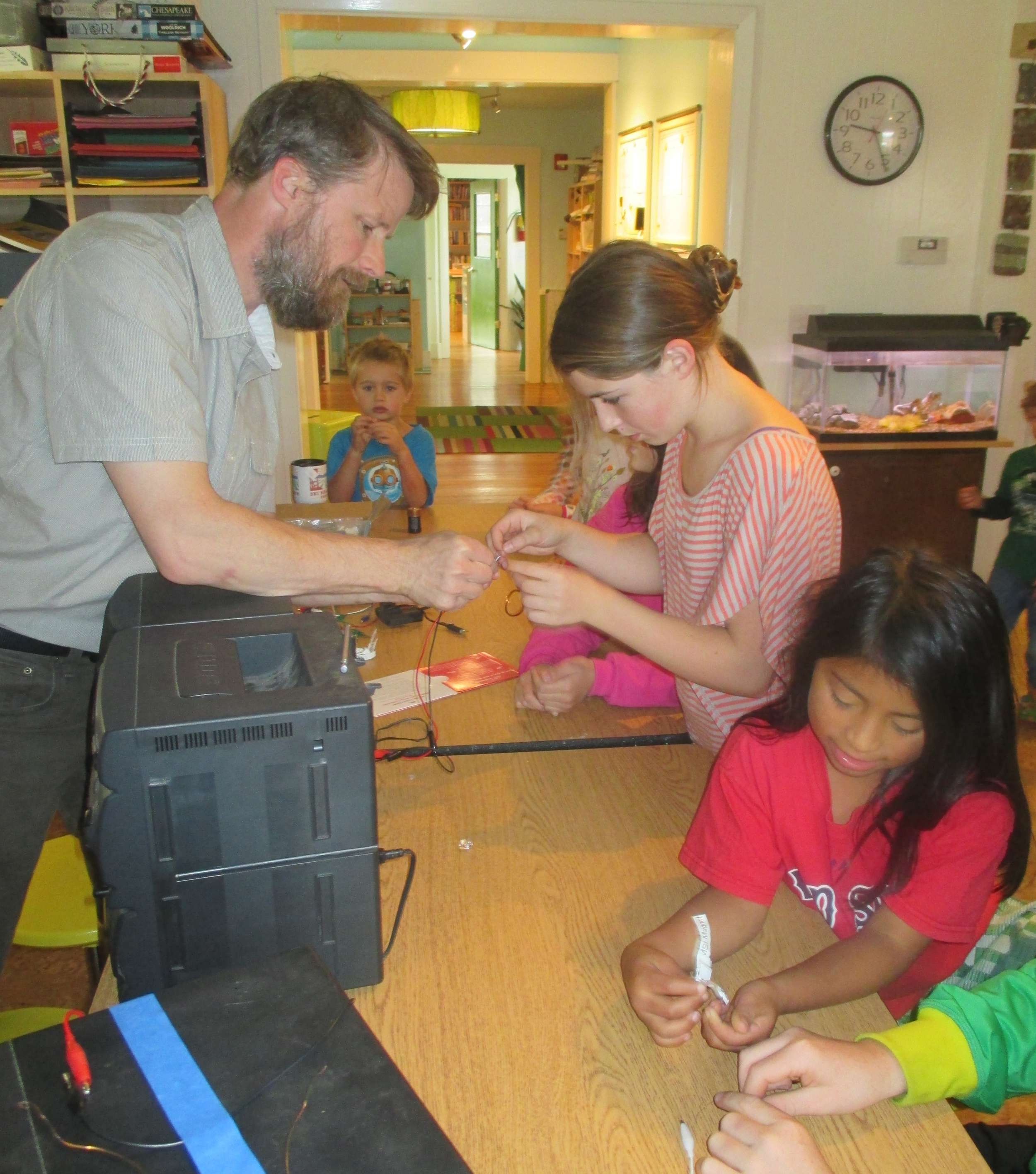 "Bill Church of  WMSI, white mountain science institute,  joins students in our ""building and mechanics"" journey"