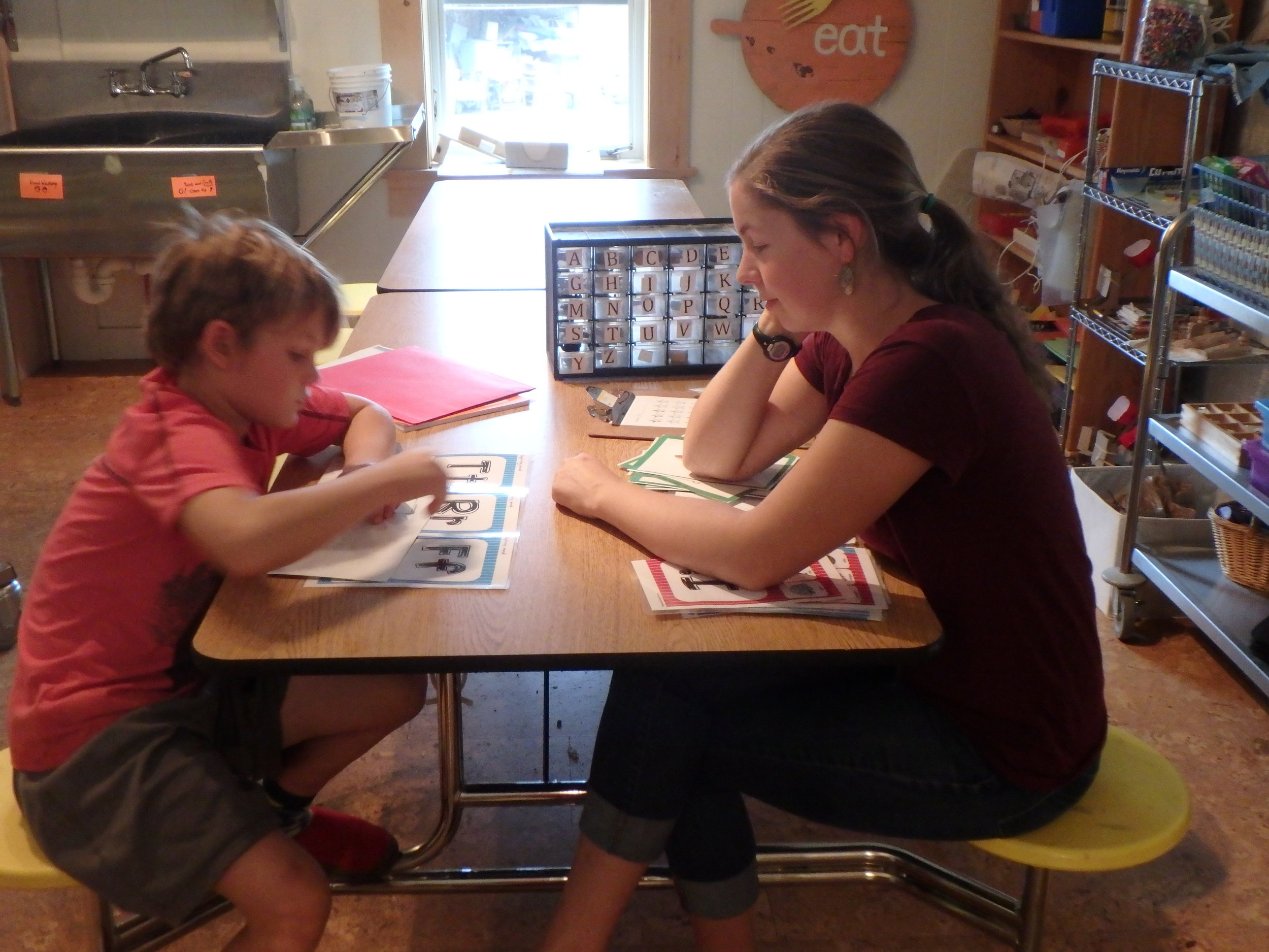 ...a student asks to learn how to read? - We teach them, of course! Using a variety of approaches, we meet the child where he or she is at and teach them to read one sound at a time.