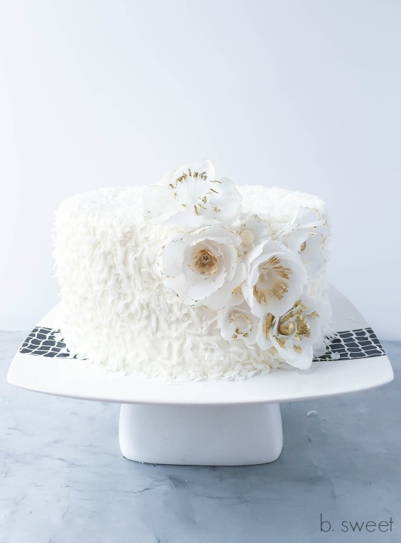 Sour Cream Coconut Cake