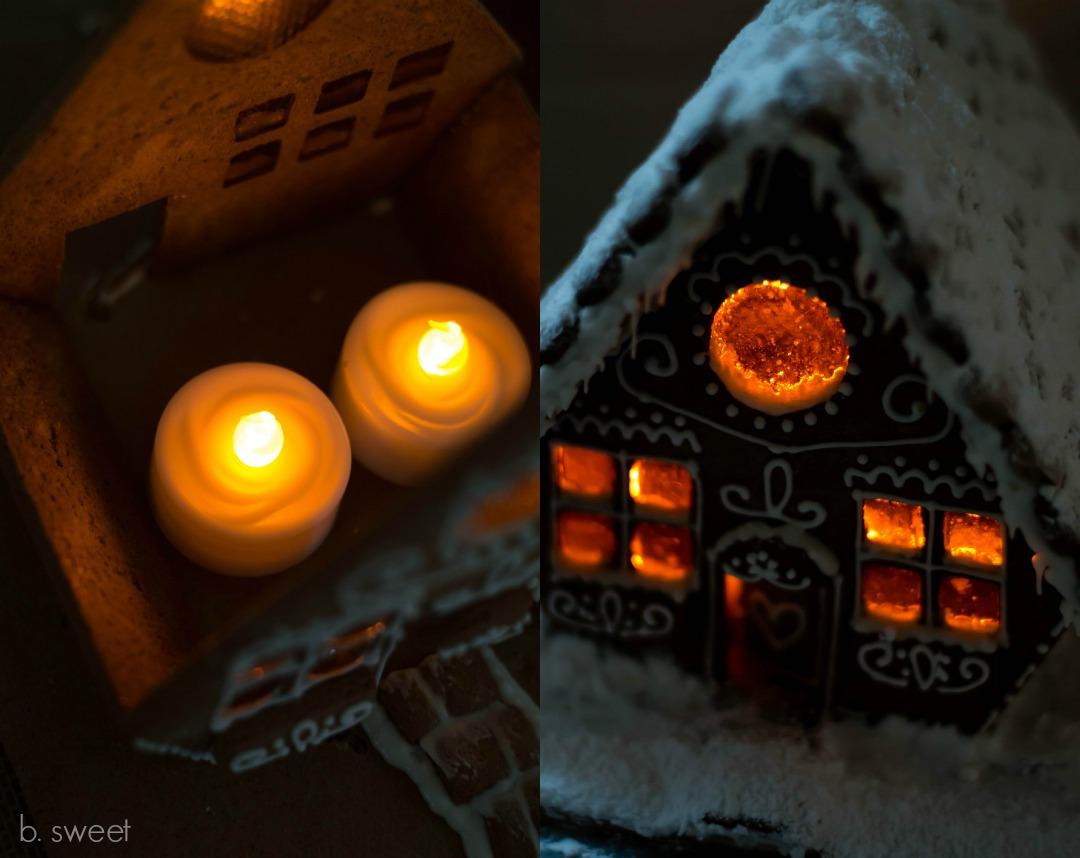 Gingerbread House Flicker Light - b. sweet