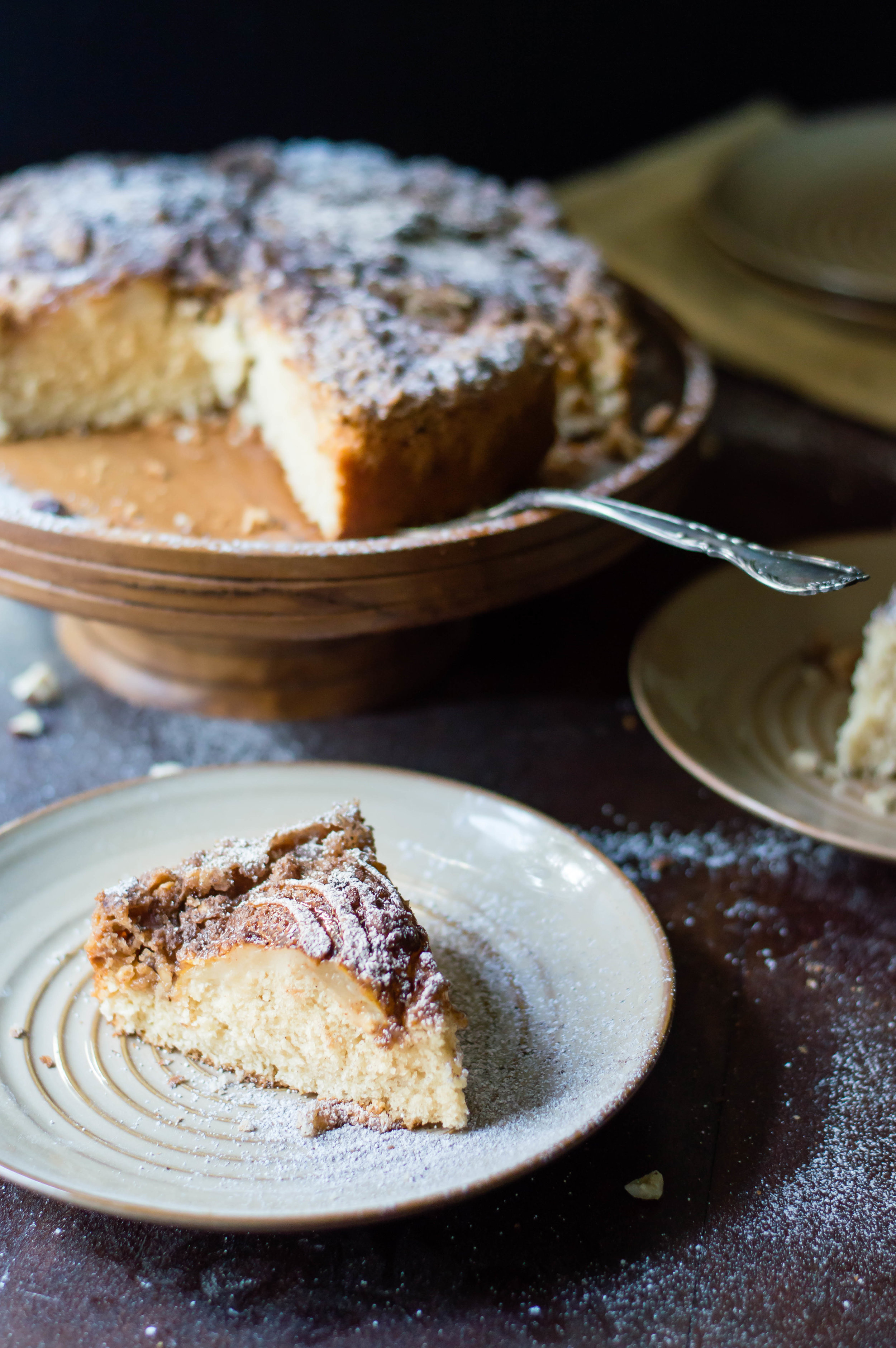 Hazelnut, Pear, and Brown Butter Coffee Cake-7.jpg
