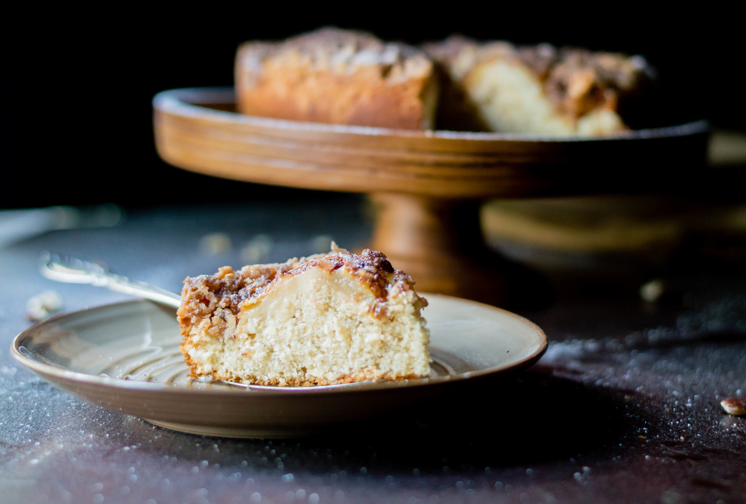 Hazelnut, Pear, and Brown Butter Coffee Cake-3.jpg