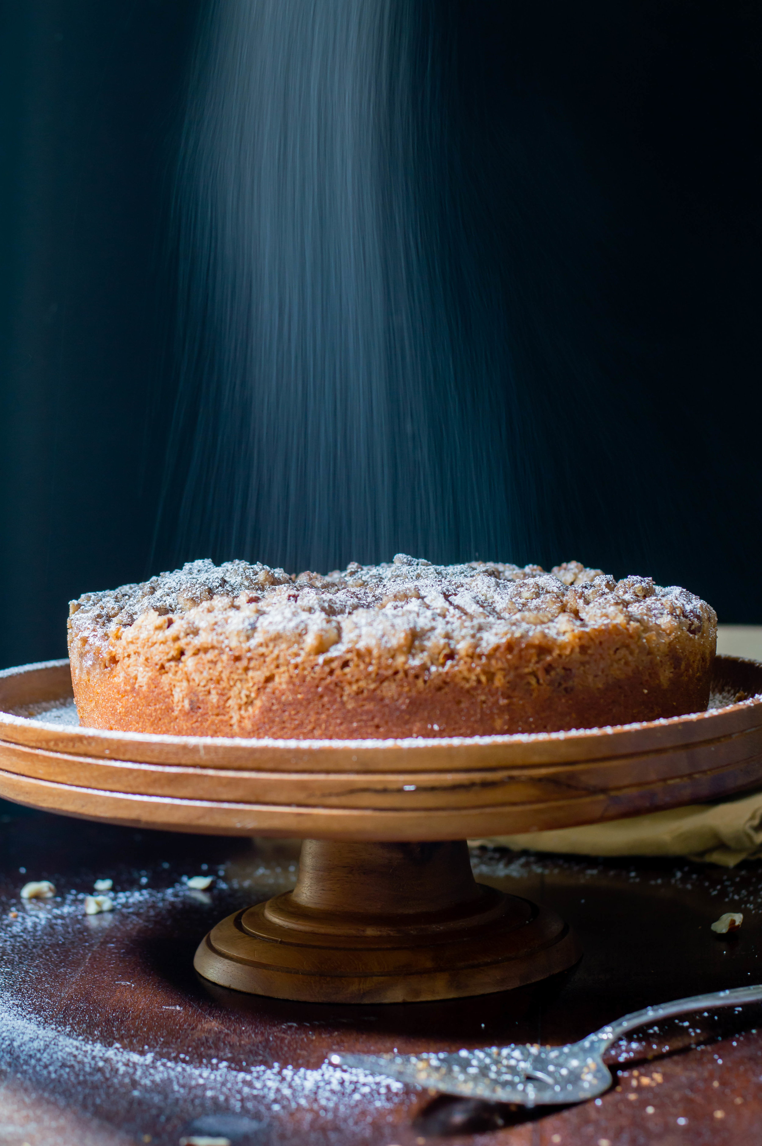 Hazelnut, Pear, and Brown Butter Coffee Cake