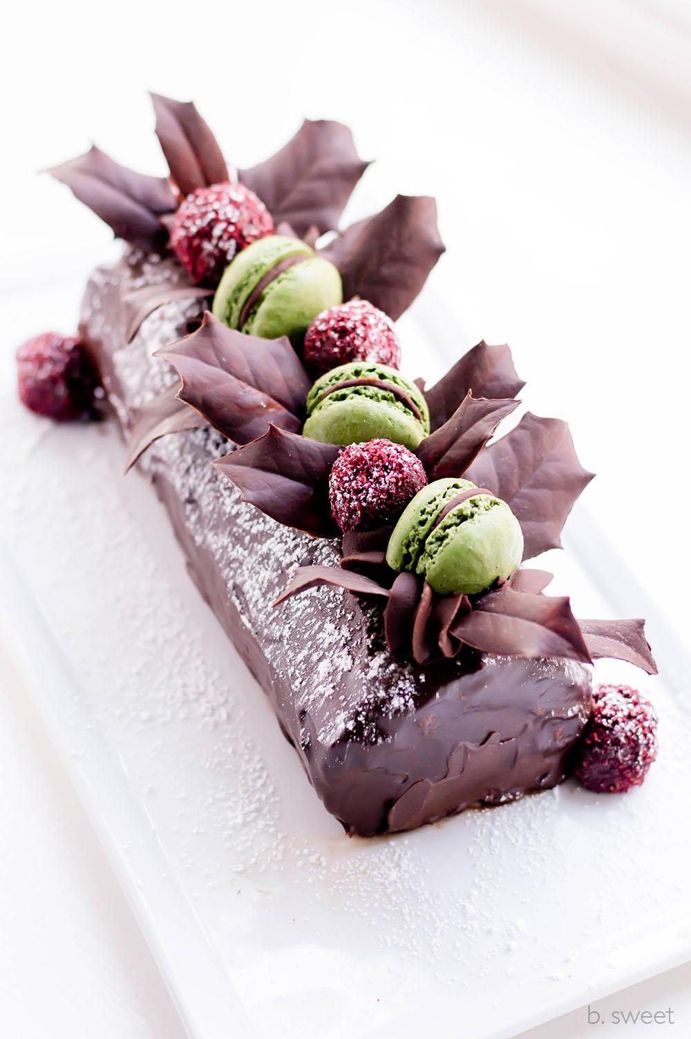 Mocha Swiss Roll - Yule Log - b. sweet